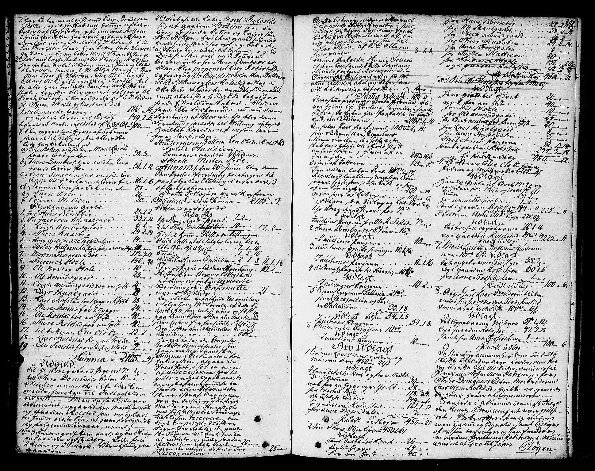 SAH, Nord-Gudbrandsdal tingrett, J/Ja/L0003a: Skifteprotokoll, 1765-1785, s. 841b-842a
