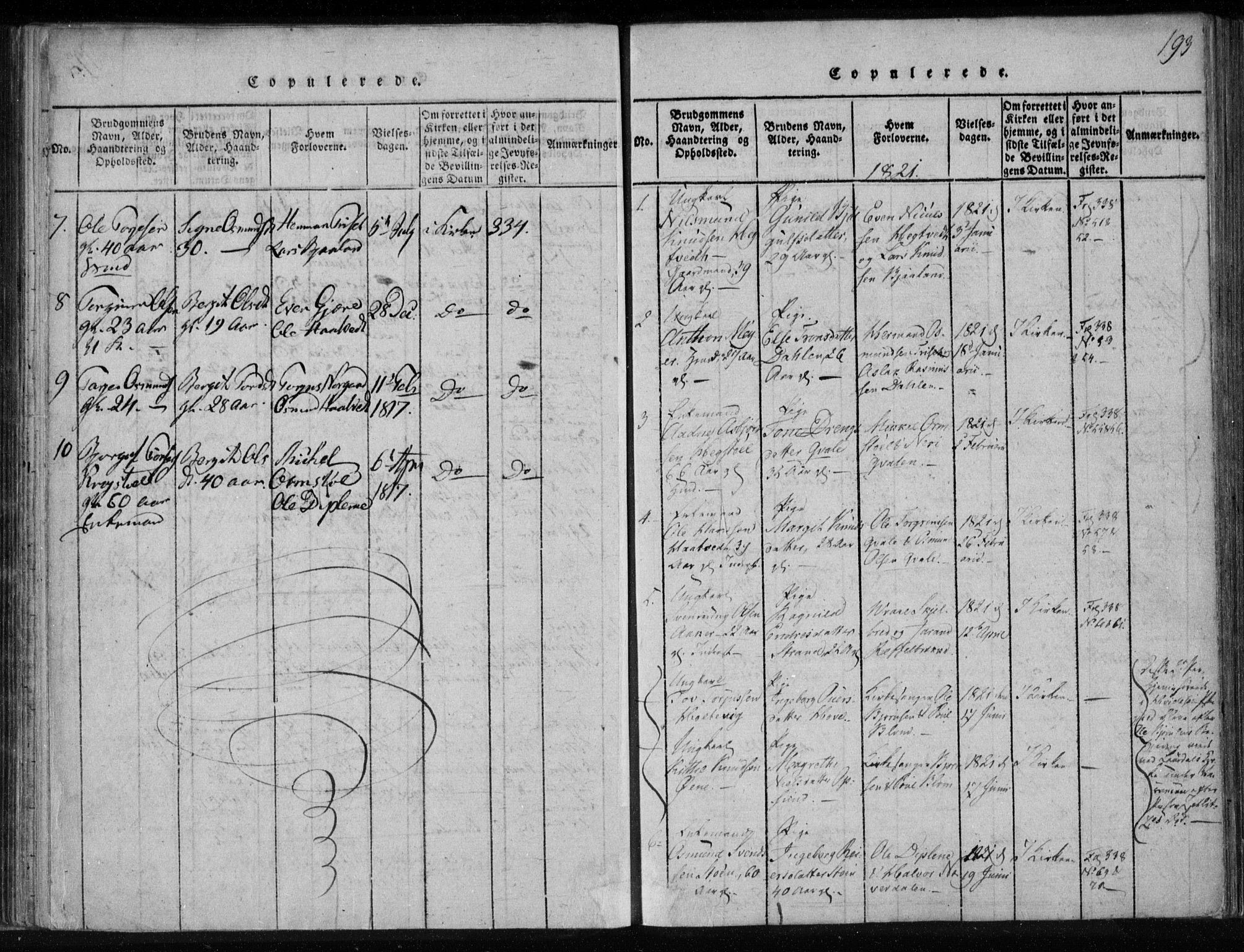 SAKO, Lårdal kirkebøker, F/Fa/L0005: Ministerialbok nr. I 5, 1815-1860, s. 193