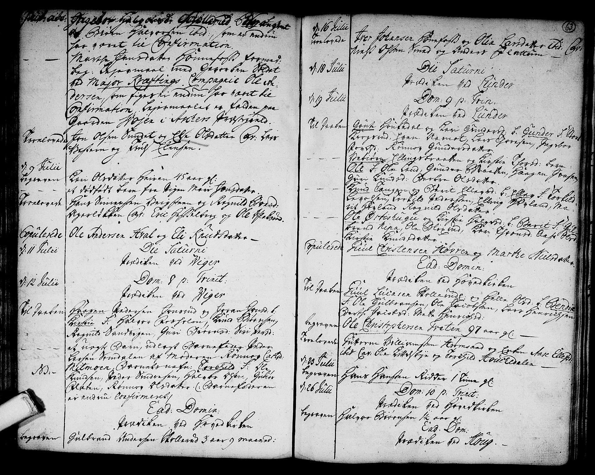 SAKO, Norderhov kirkebøker, F/Fa/L0004: Ministerialbok nr. 4, 1758-1774, s. 63