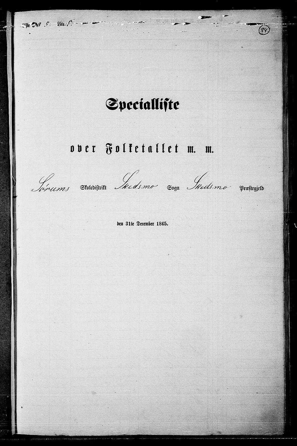 RA, Folketelling 1865 for 0231P Skedsmo prestegjeld, 1865, s. 79