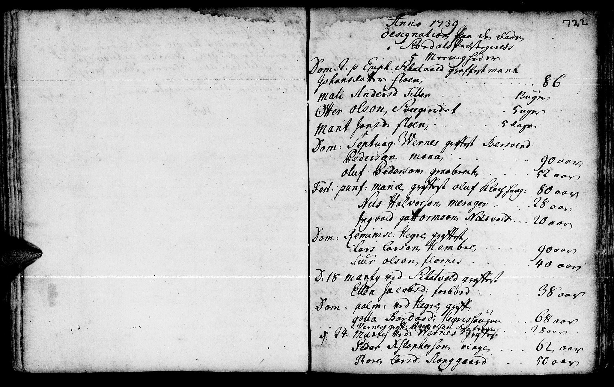 SAT, Ministerialprotokoller, klokkerbøker og fødselsregistre - Nord-Trøndelag, 709/L0055: Ministerialbok nr. 709A03, 1730-1739, s. 721-722
