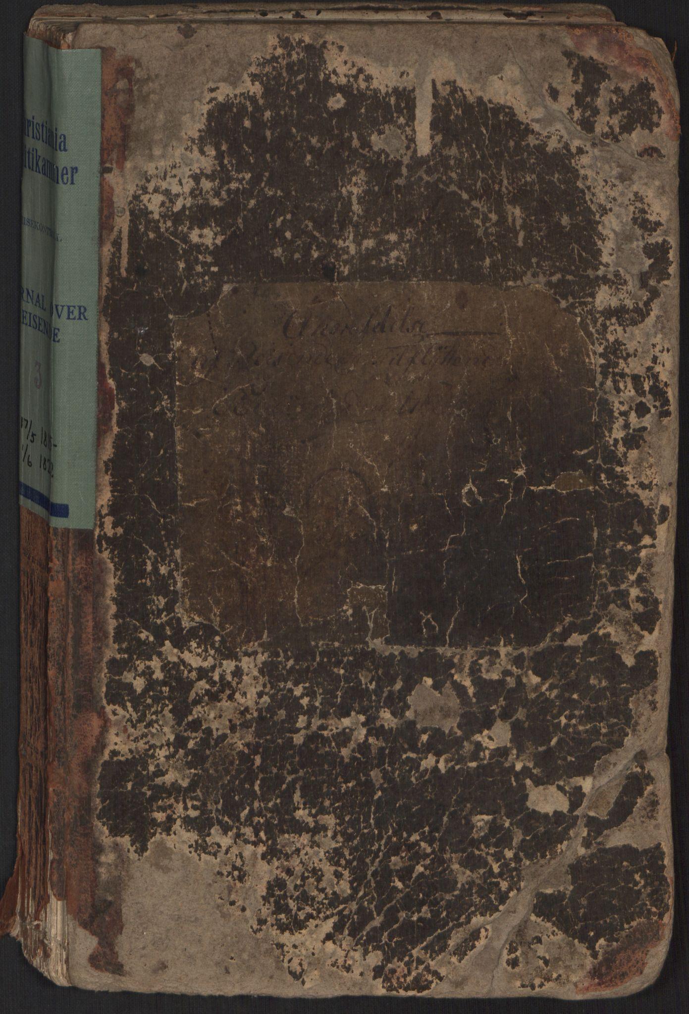 SAO, Oslo politidistrikt, E/Ee/Eei/L0003: Journal over ankomne og anmeldte reisende, 1815-1822
