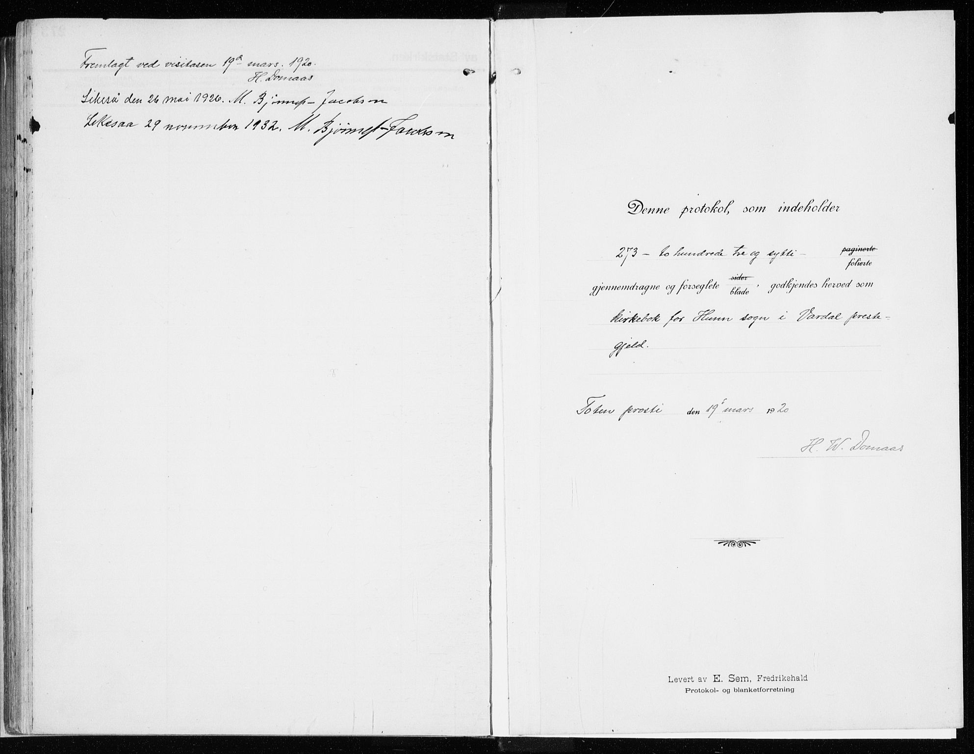 SAH, Vardal prestekontor, H/Ha/Haa/L0017: Ministerialbok nr. 17, 1915-1929