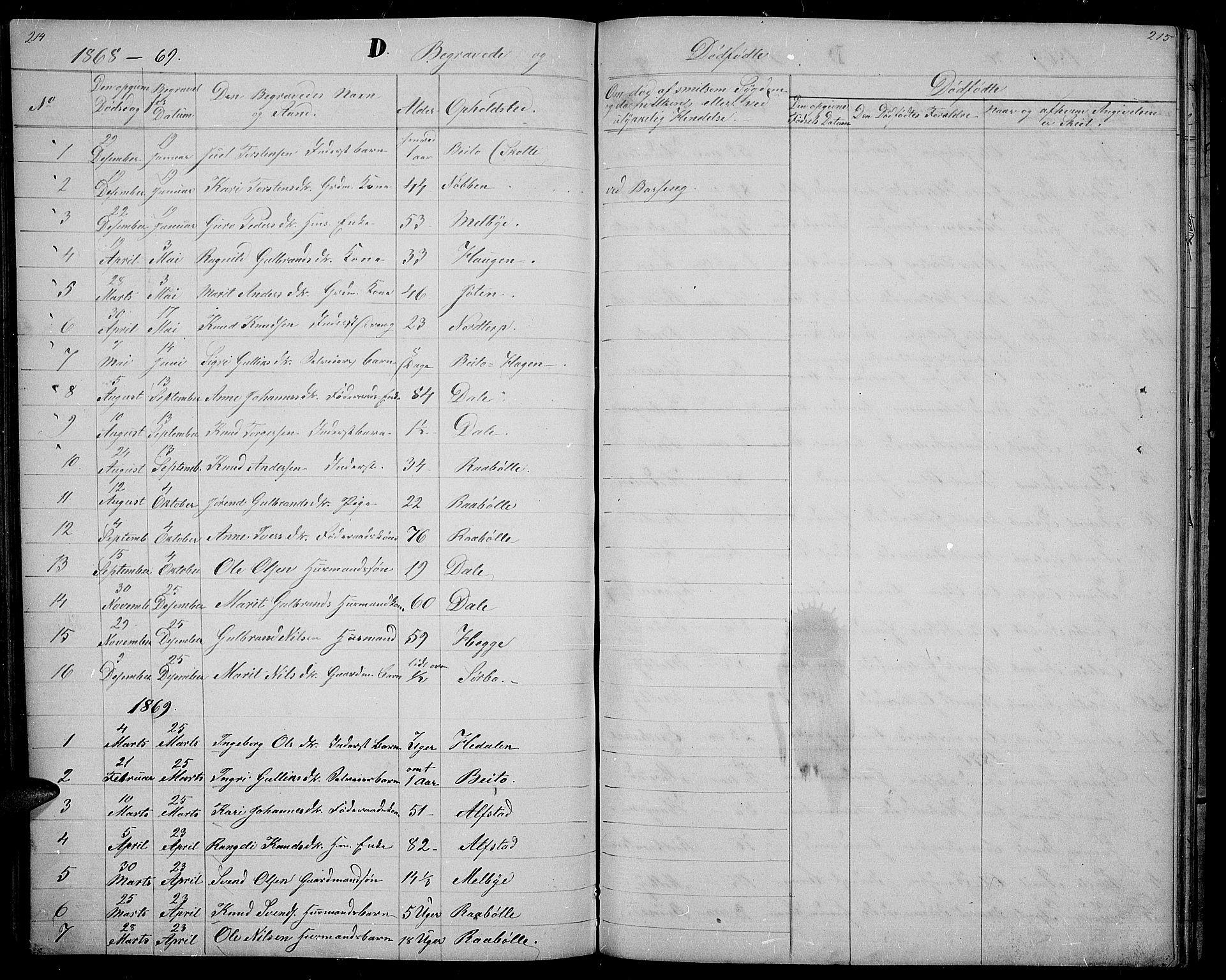 SAH, Øystre Slidre prestekontor, Klokkerbok nr. 1, 1866-1886, s. 214-215