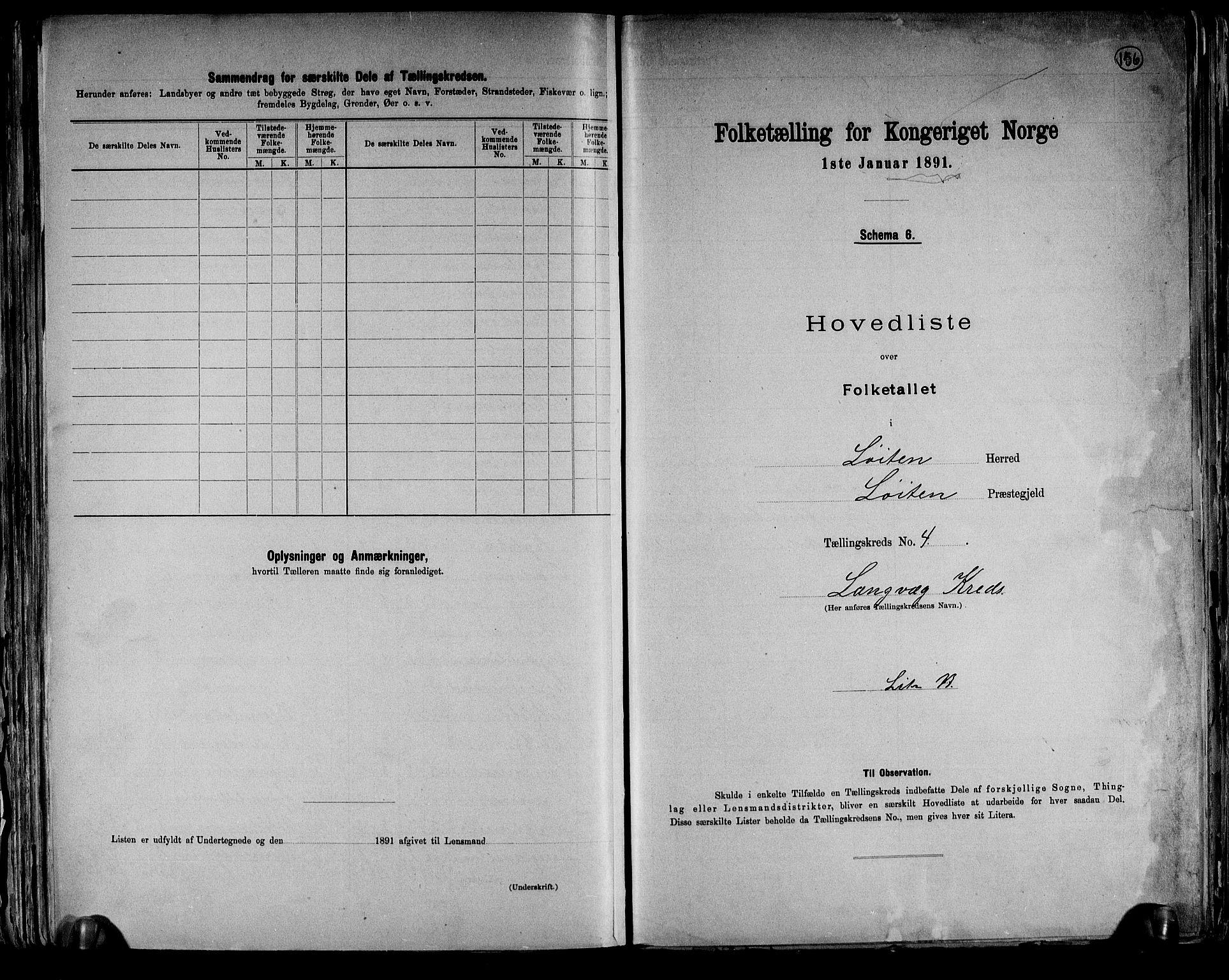RA, Folketelling 1891 for 0415 Løten herred, 1891, s. 21