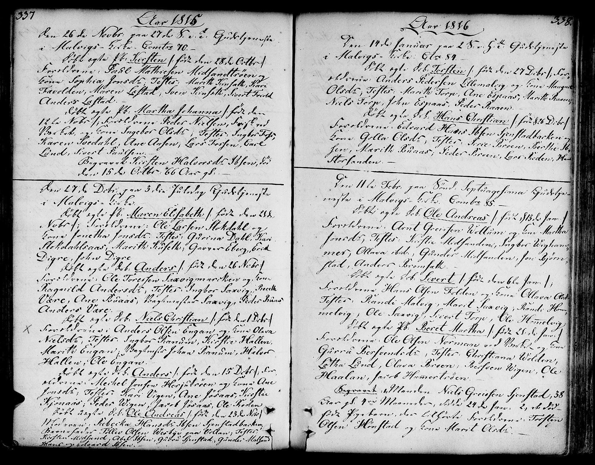 SAT, Ministerialprotokoller, klokkerbøker og fødselsregistre - Sør-Trøndelag, 606/L0281: Ministerialbok nr. 606A02 /2, 1781-1817, s. 337-338