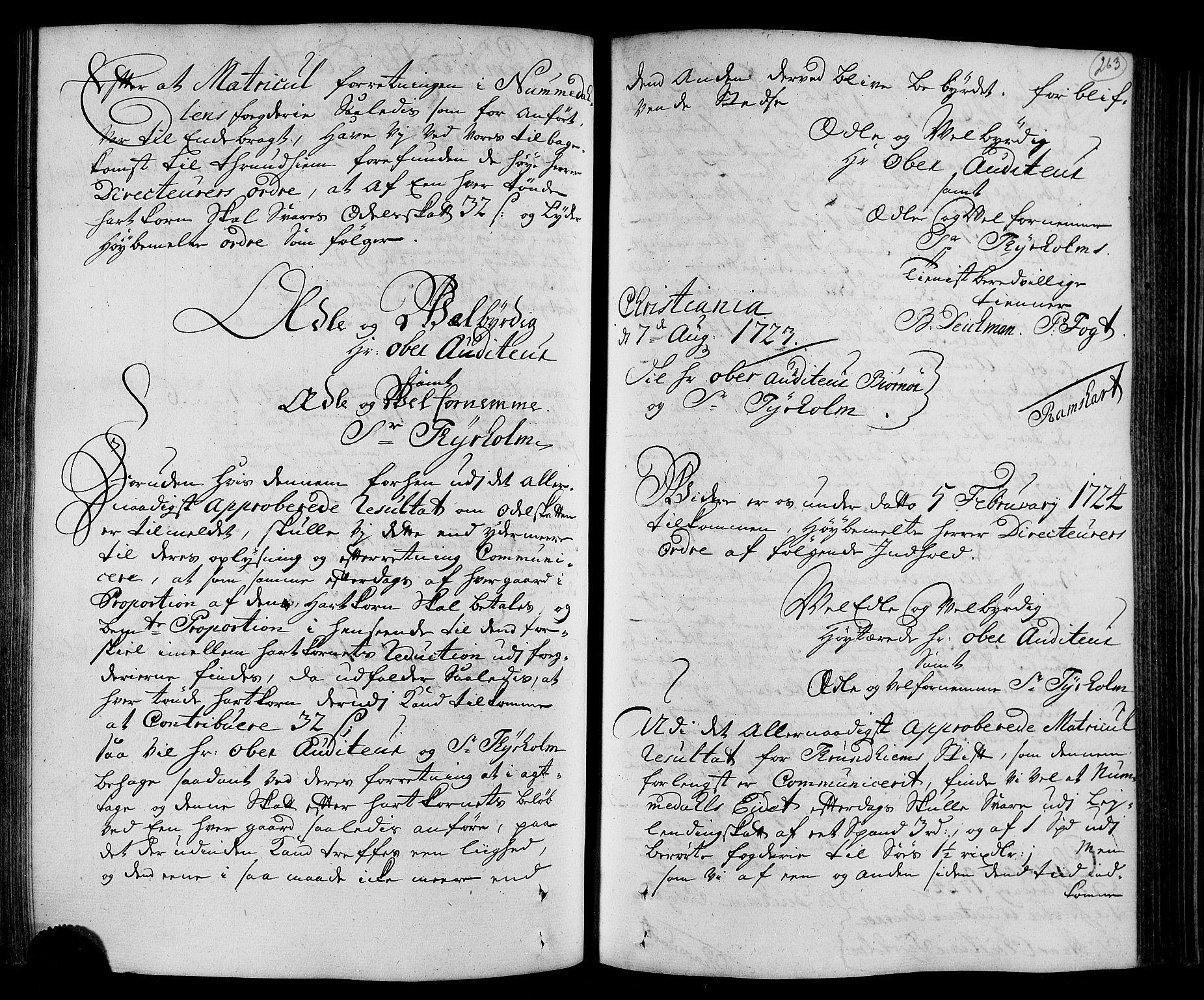 RA, Rentekammeret inntil 1814, Realistisk ordnet avdeling, N/Nb/Nbf/L0168: Namdalen eksaminasjonsprotokoll, 1723, s. 262b-263a