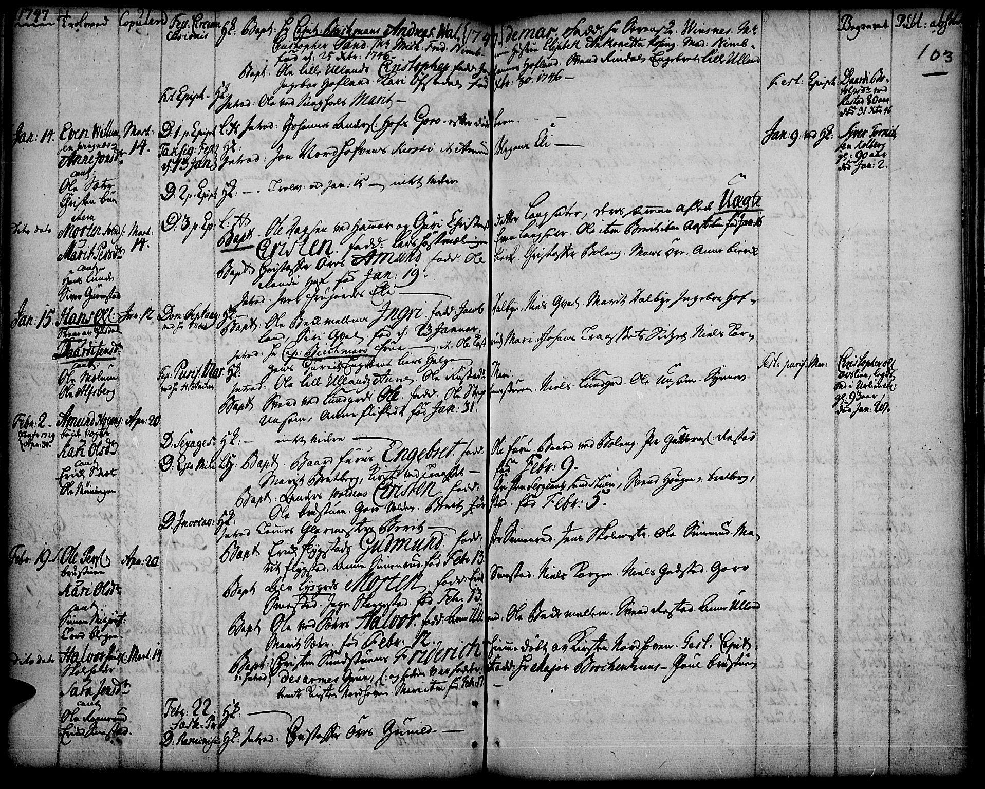 SAH, Fåberg prestekontor, Ministerialbok nr. 1, 1727-1775, s. 103