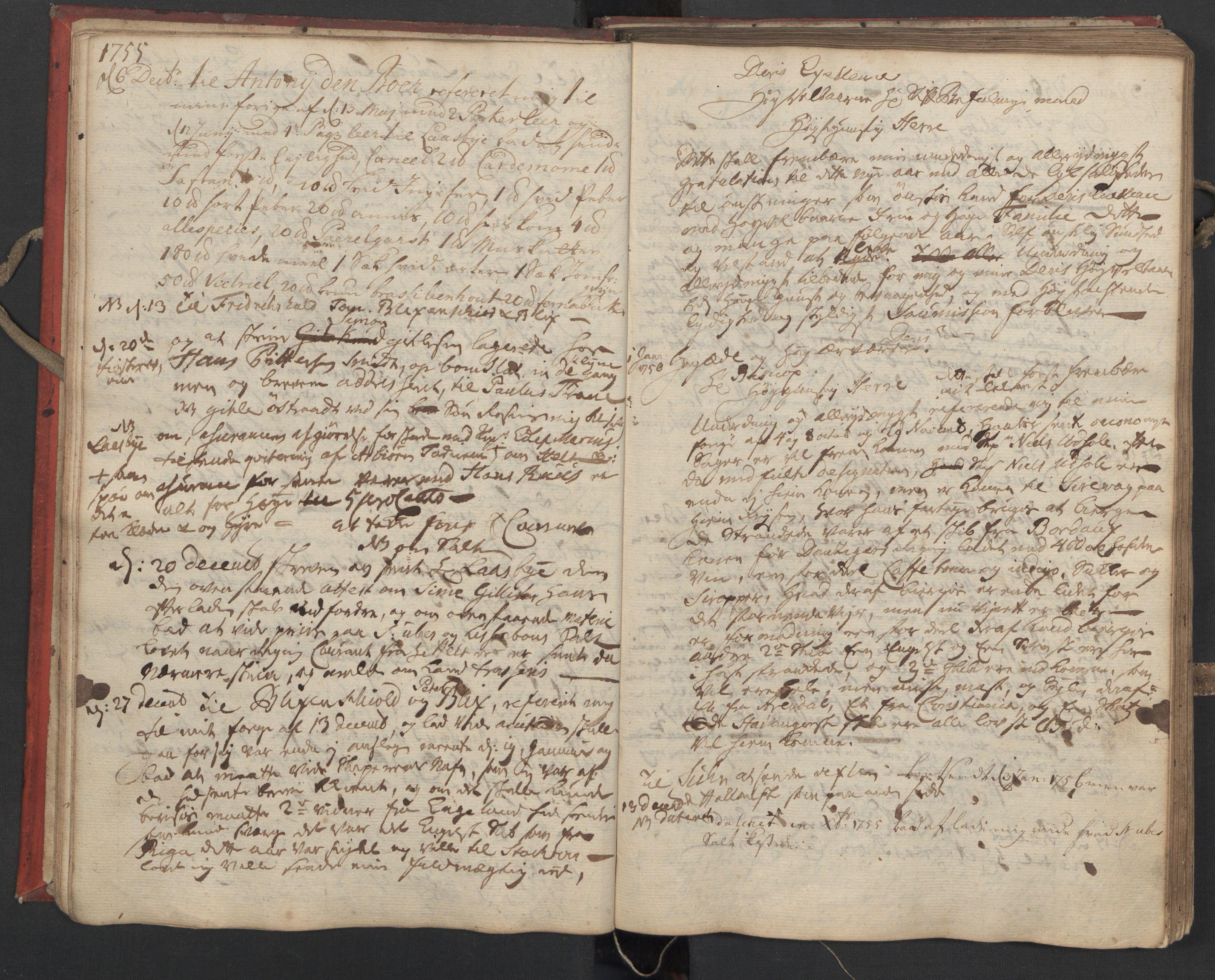 SAST, Pa 0119 - Smith, Lauritz Andersen og Lauritz Lauritzen, O/L0002: Kopibok, 1755-1766, s. 16
