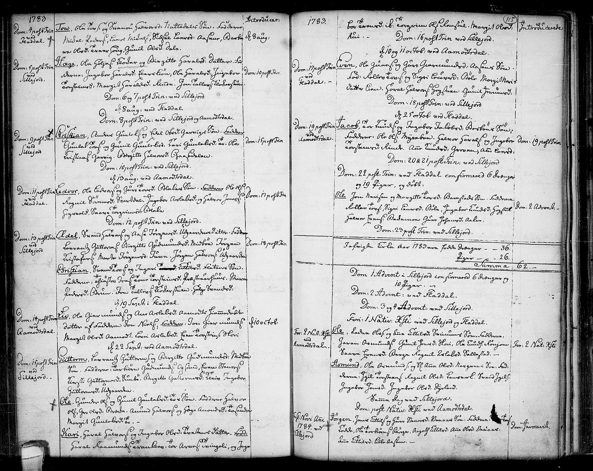 SAKO, Seljord kirkebøker, F/Fa/L0007: Ministerialbok nr. I 7, 1755-1800, s. 115