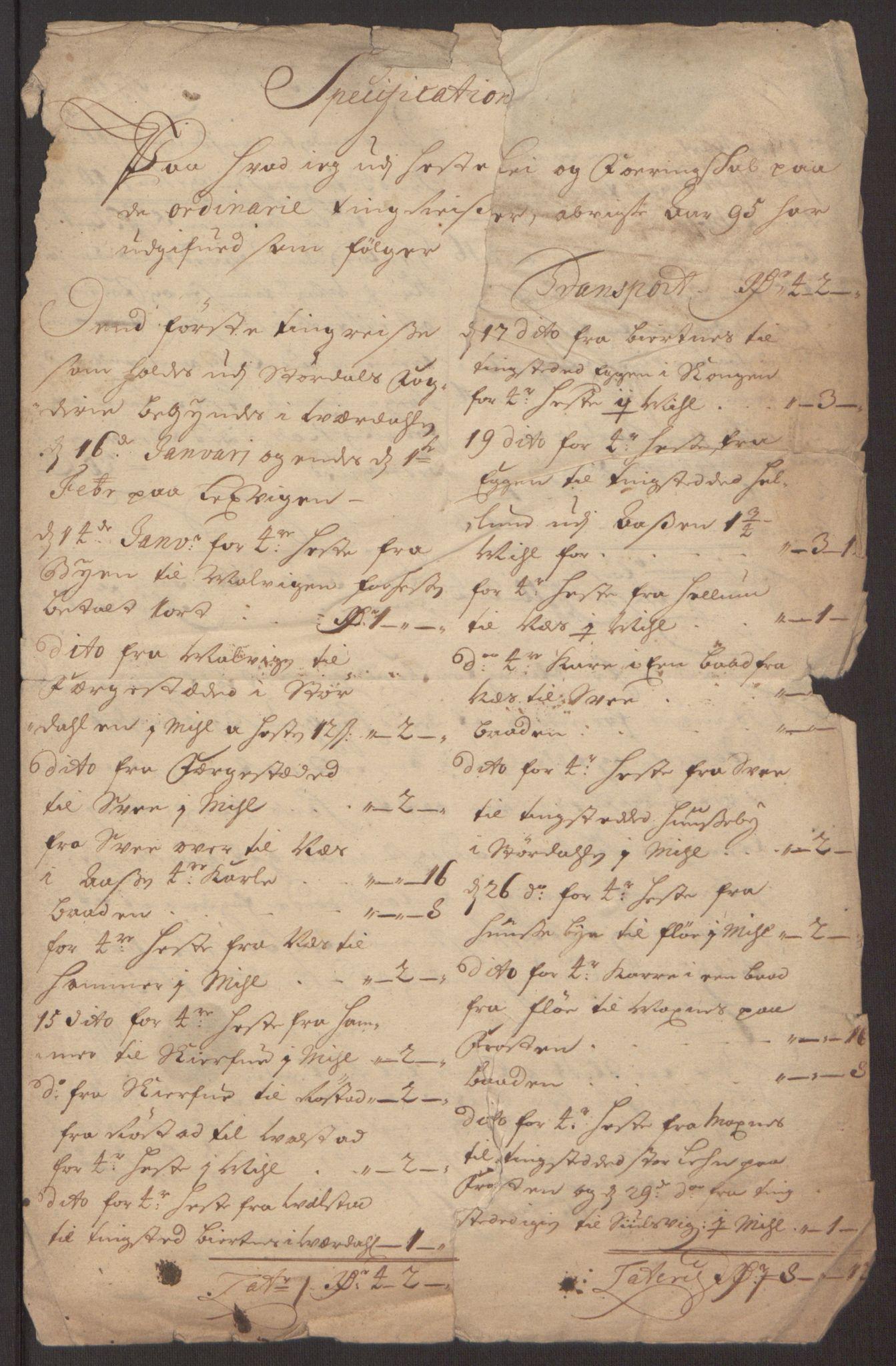 RA, Rentekammeret inntil 1814, Reviderte regnskaper, Fogderegnskap, R62/L4187: Fogderegnskap Stjørdal og Verdal, 1695, s. 281