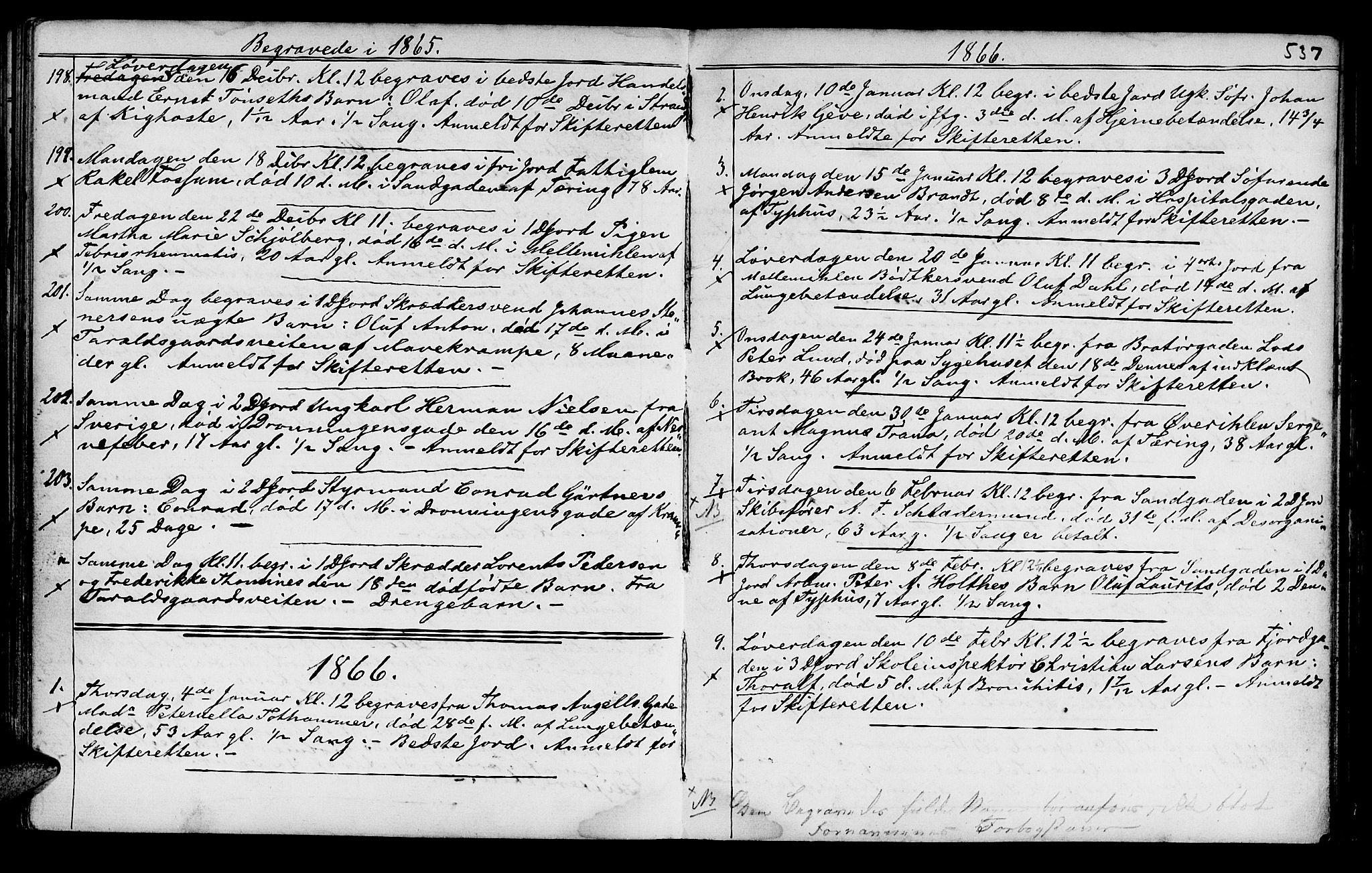 SAT, Ministerialprotokoller, klokkerbøker og fødselsregistre - Sør-Trøndelag, 602/L0140: Klokkerbok nr. 602C08, 1864-1872, s. 536-537