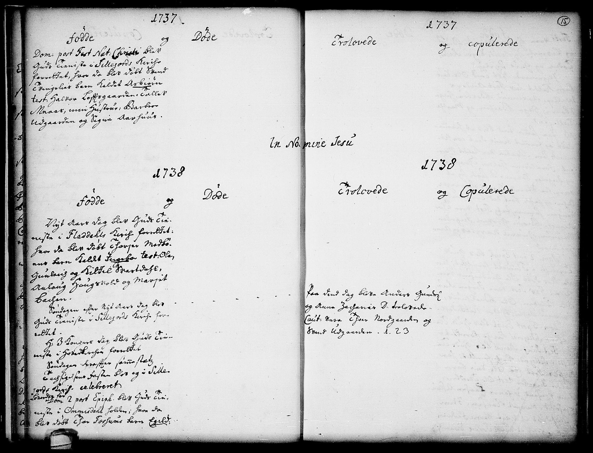 SAKO, Seljord kirkebøker, F/Fa/L0005: Ministerialbok nr. I 5, 1737-1743, s. 15