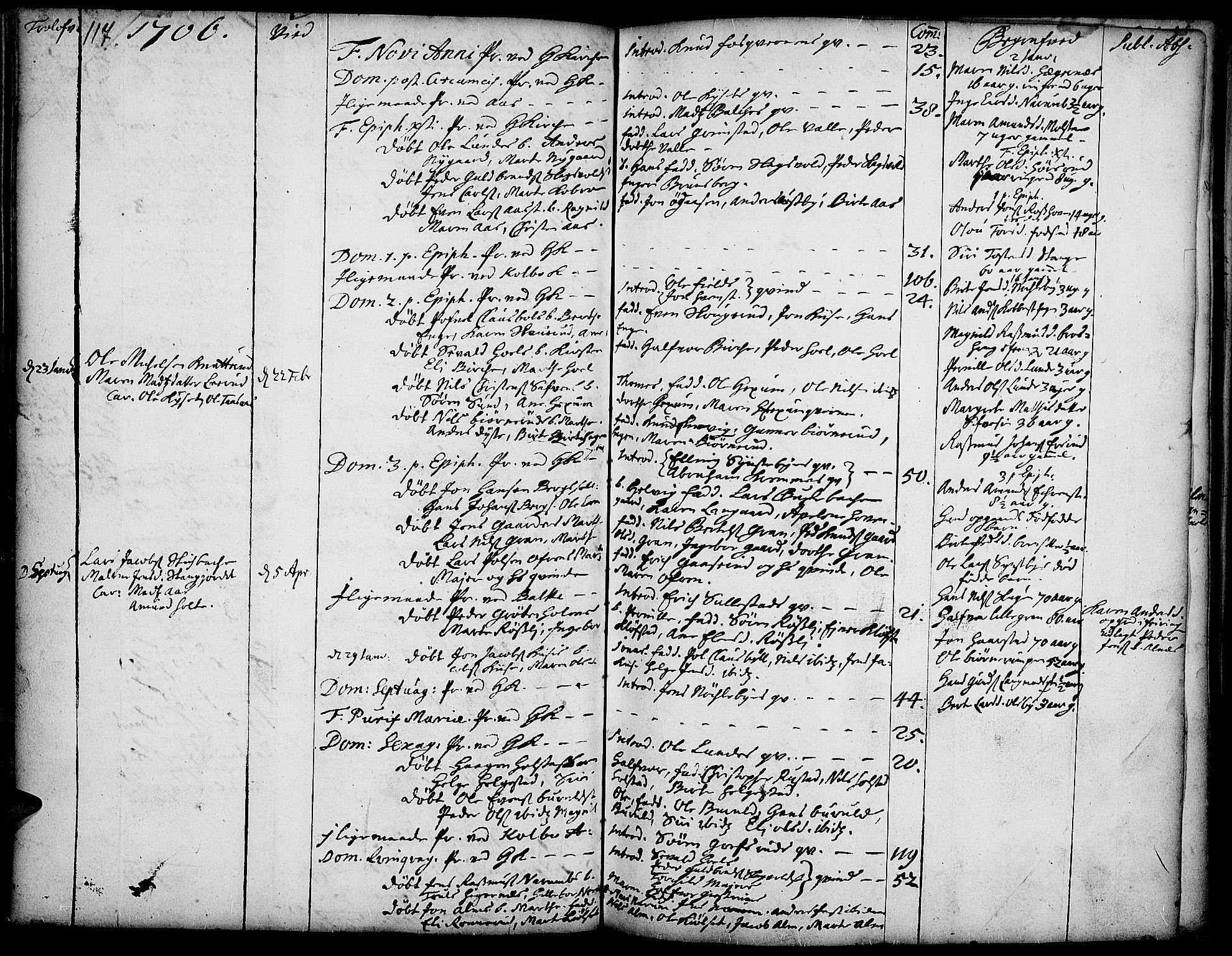 SAH, Toten prestekontor, Ministerialbok nr. 1, 1695-1713, s. 117