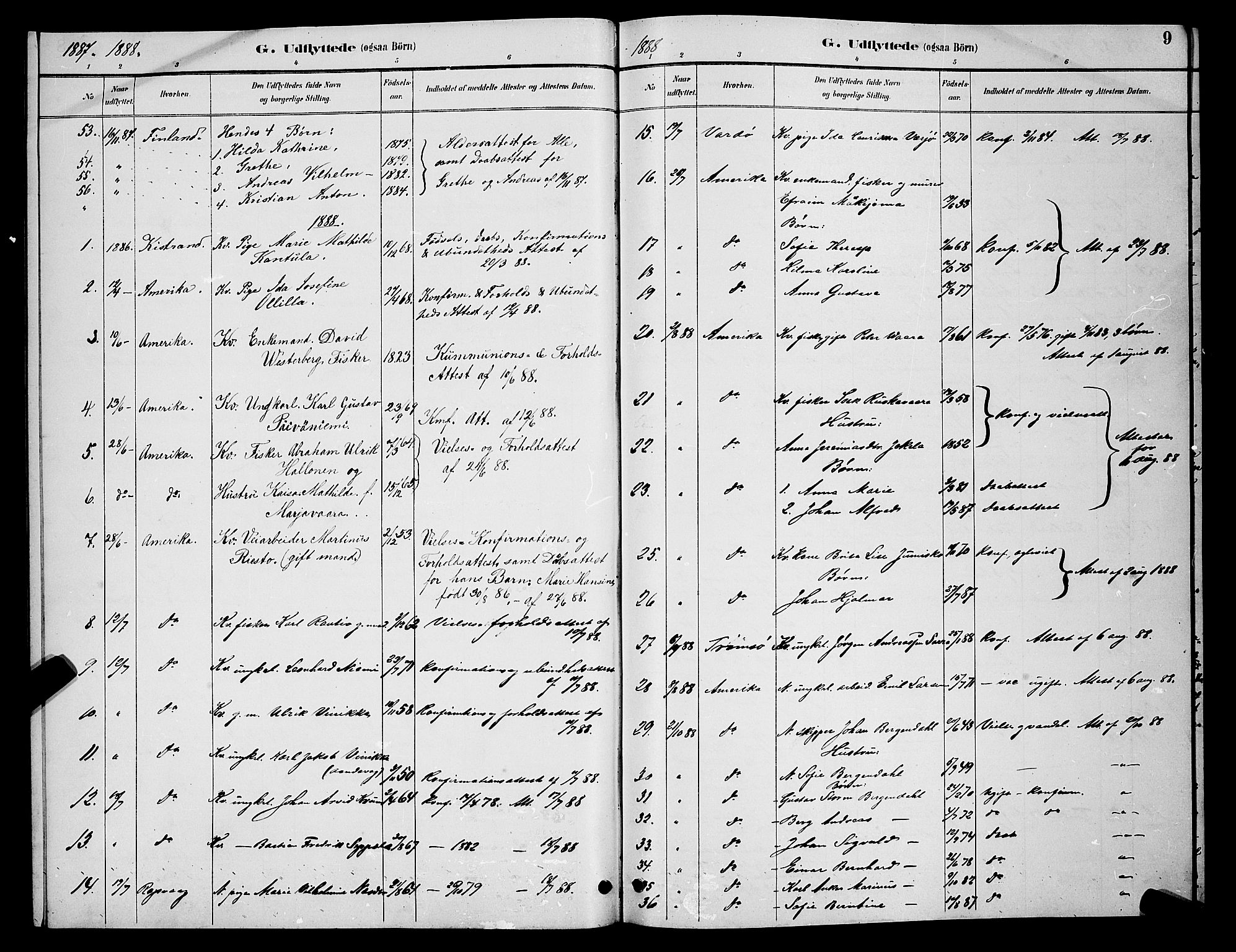 SATØ, Vadsø soknepreskontor, H/Hb/L0005klokker: Klokkerbok nr. 5, 1885-1901, s. 9