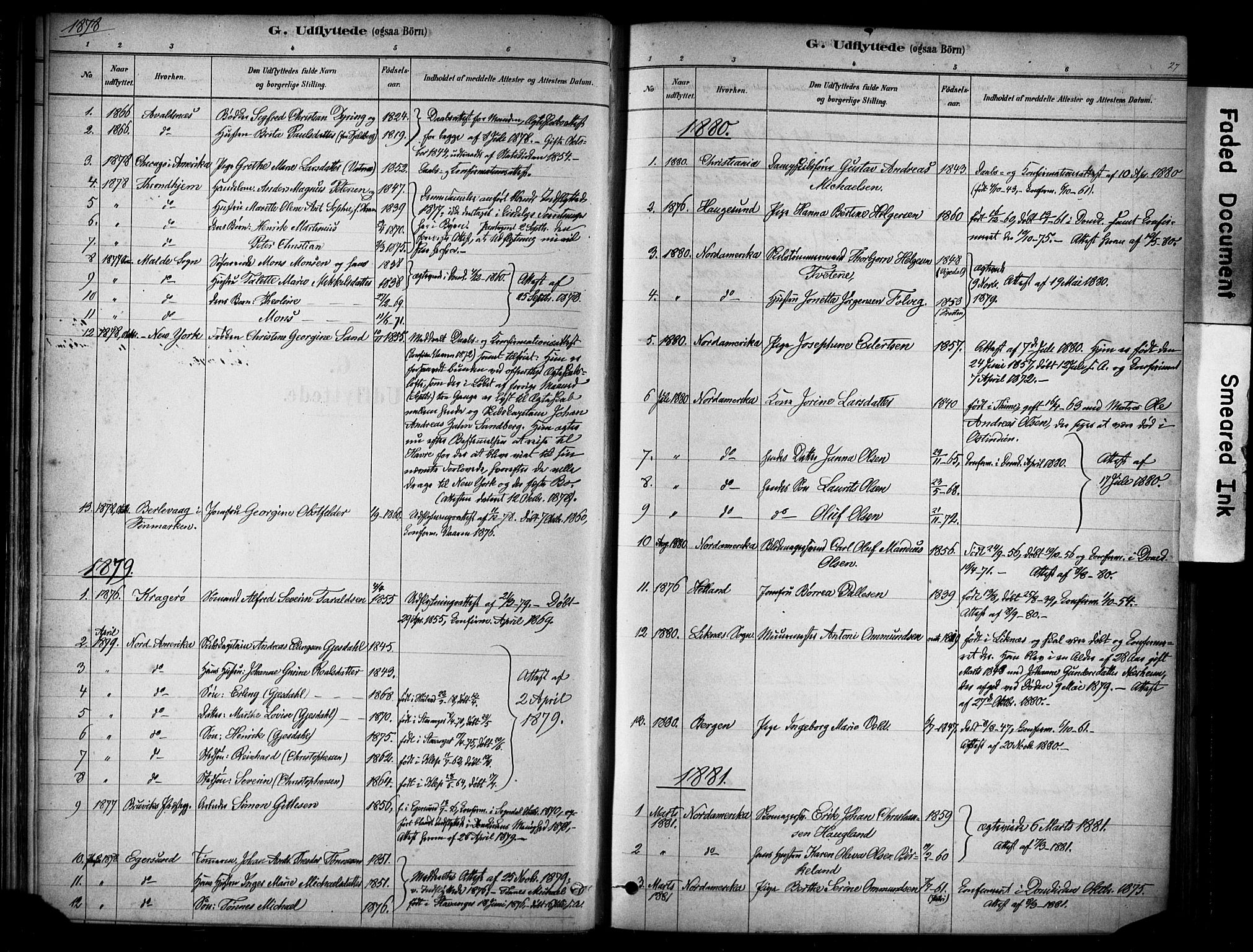 SAST, Domkirken sokneprestkontor, 30/30BA/L0025: Ministerialbok nr. A 24, 1877-1927, s. 27