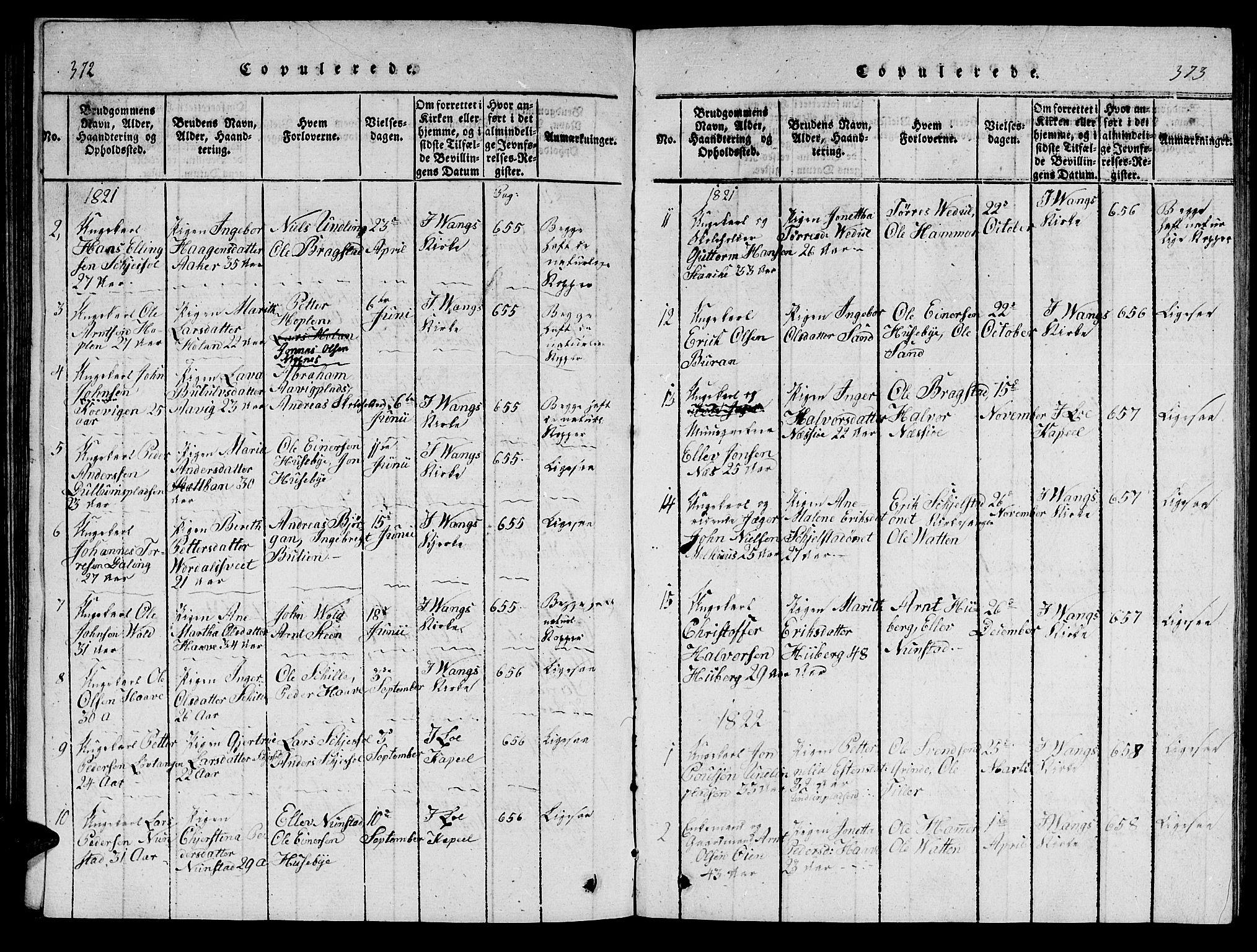 SAT, Ministerialprotokoller, klokkerbøker og fødselsregistre - Nord-Trøndelag, 714/L0132: Klokkerbok nr. 714C01, 1817-1824, s. 372-373
