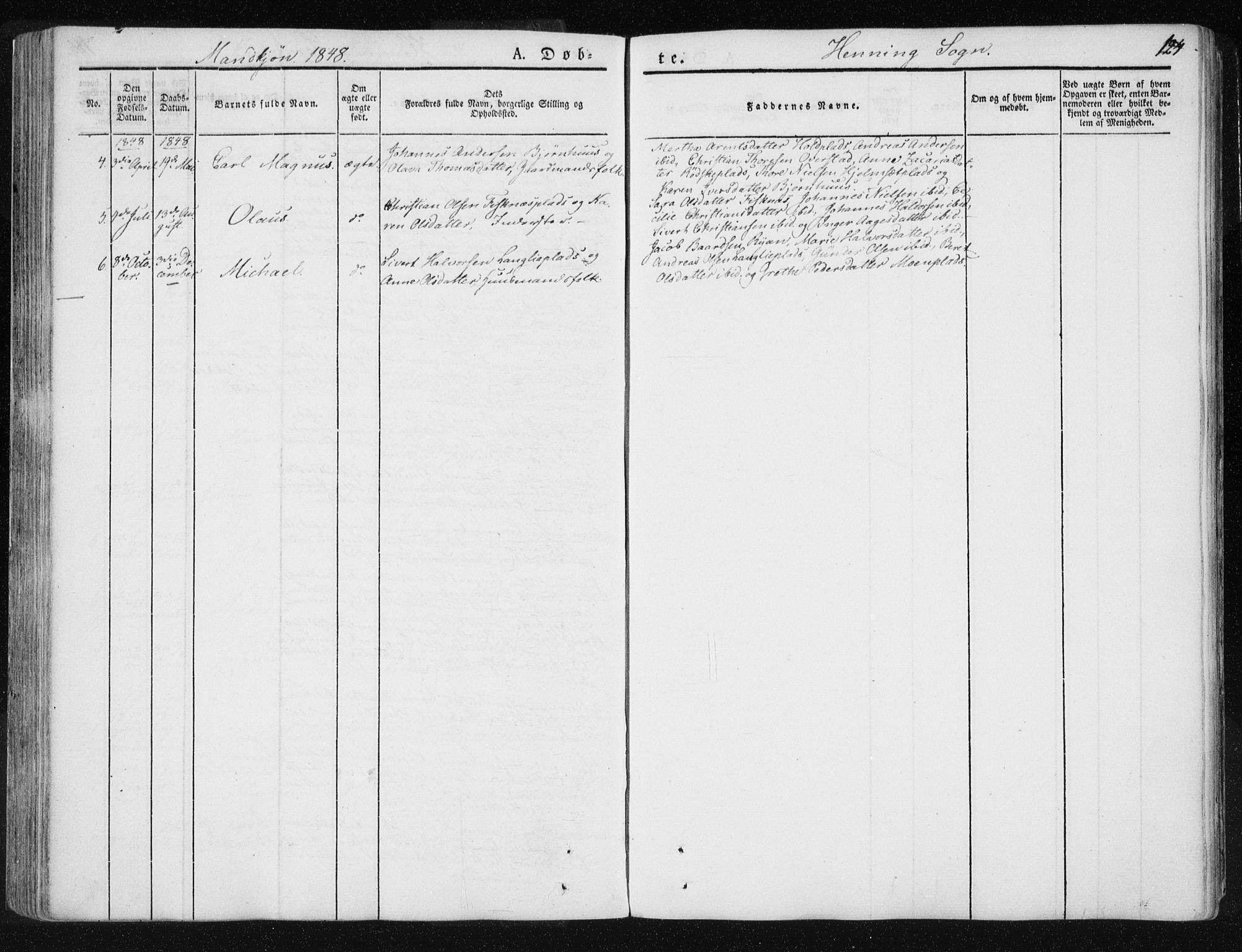 SAT, Ministerialprotokoller, klokkerbøker og fødselsregistre - Nord-Trøndelag, 735/L0339: Ministerialbok nr. 735A06 /3, 1836-1848, s. 124