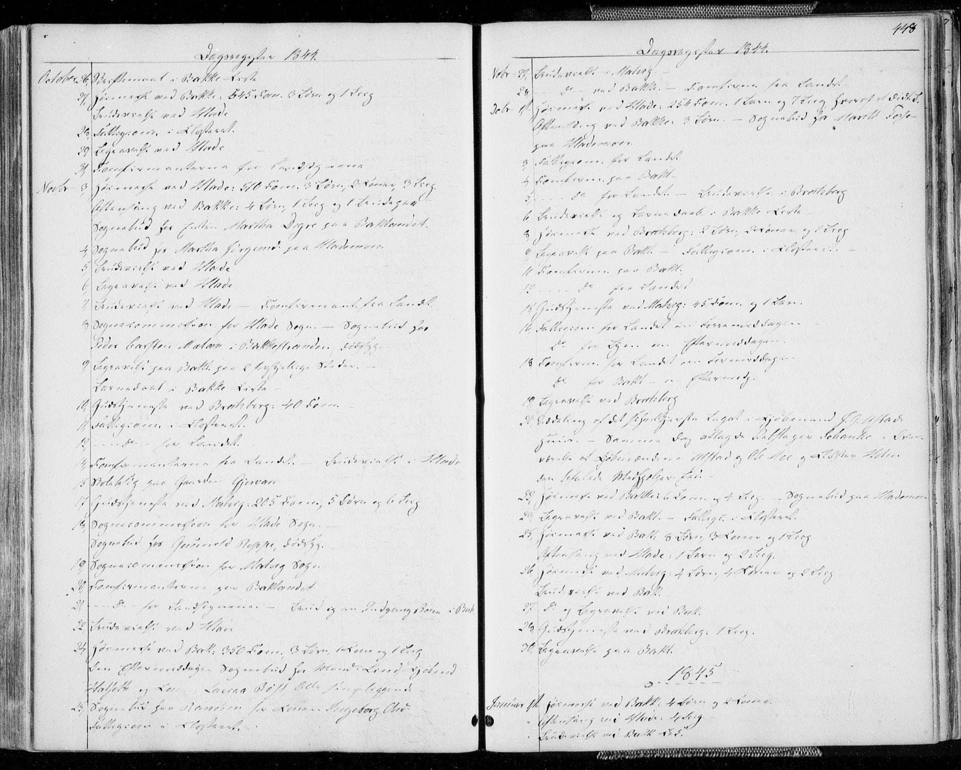 SAT, Ministerialprotokoller, klokkerbøker og fødselsregistre - Sør-Trøndelag, 606/L0290: Ministerialbok nr. 606A05, 1841-1847, s. 448