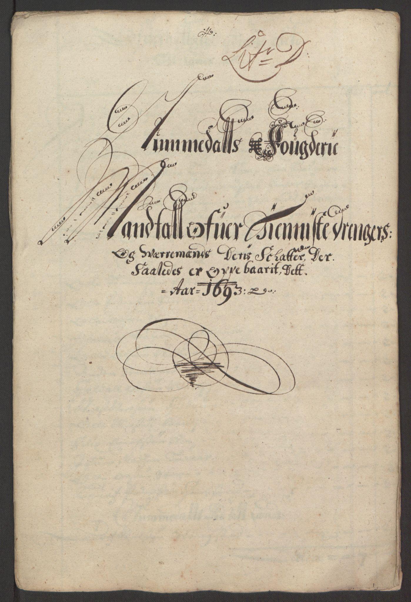 RA, Rentekammeret inntil 1814, Reviderte regnskaper, Fogderegnskap, R64/L4424: Fogderegnskap Namdal, 1692-1695, s. 247