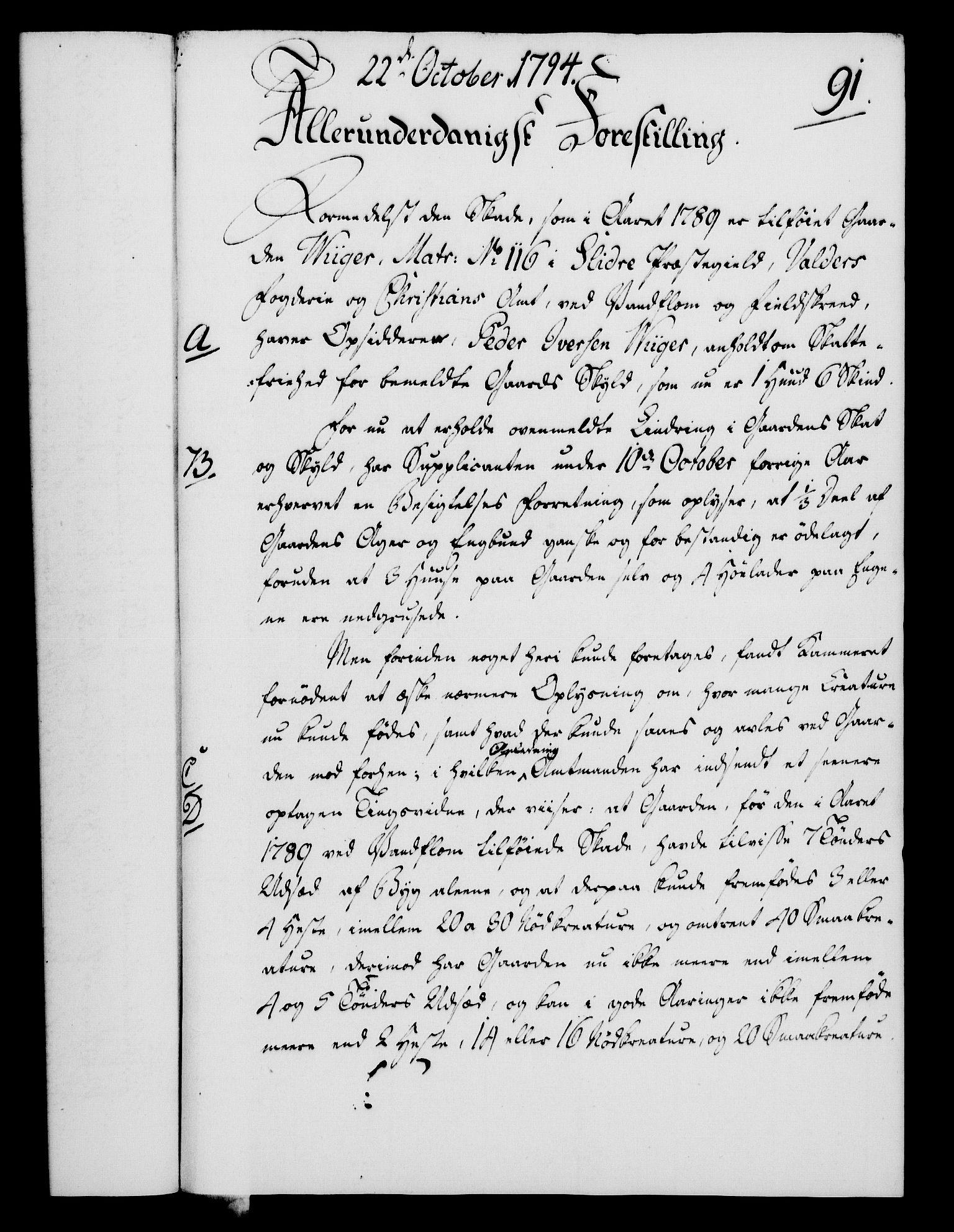 RA, Rentekammeret, Kammerkanselliet, G/Gf/Gfa/L0076: Norsk relasjons- og resolusjonsprotokoll (merket RK 52.76), 1794, s. 430