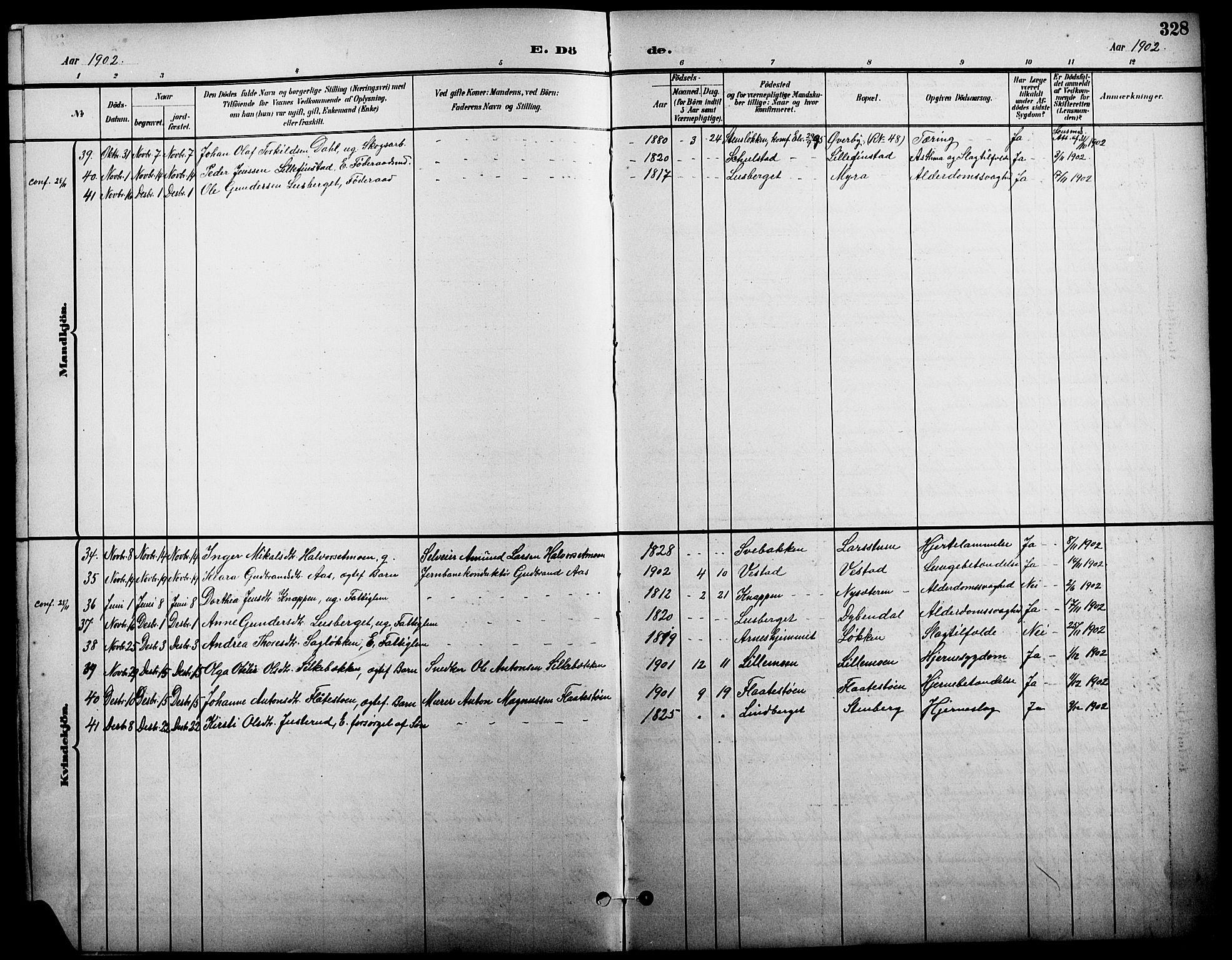 SAH, Elverum prestekontor, H/Ha/Hab/L0005: Klokkerbok nr. 5, 1896-1915, s. 328