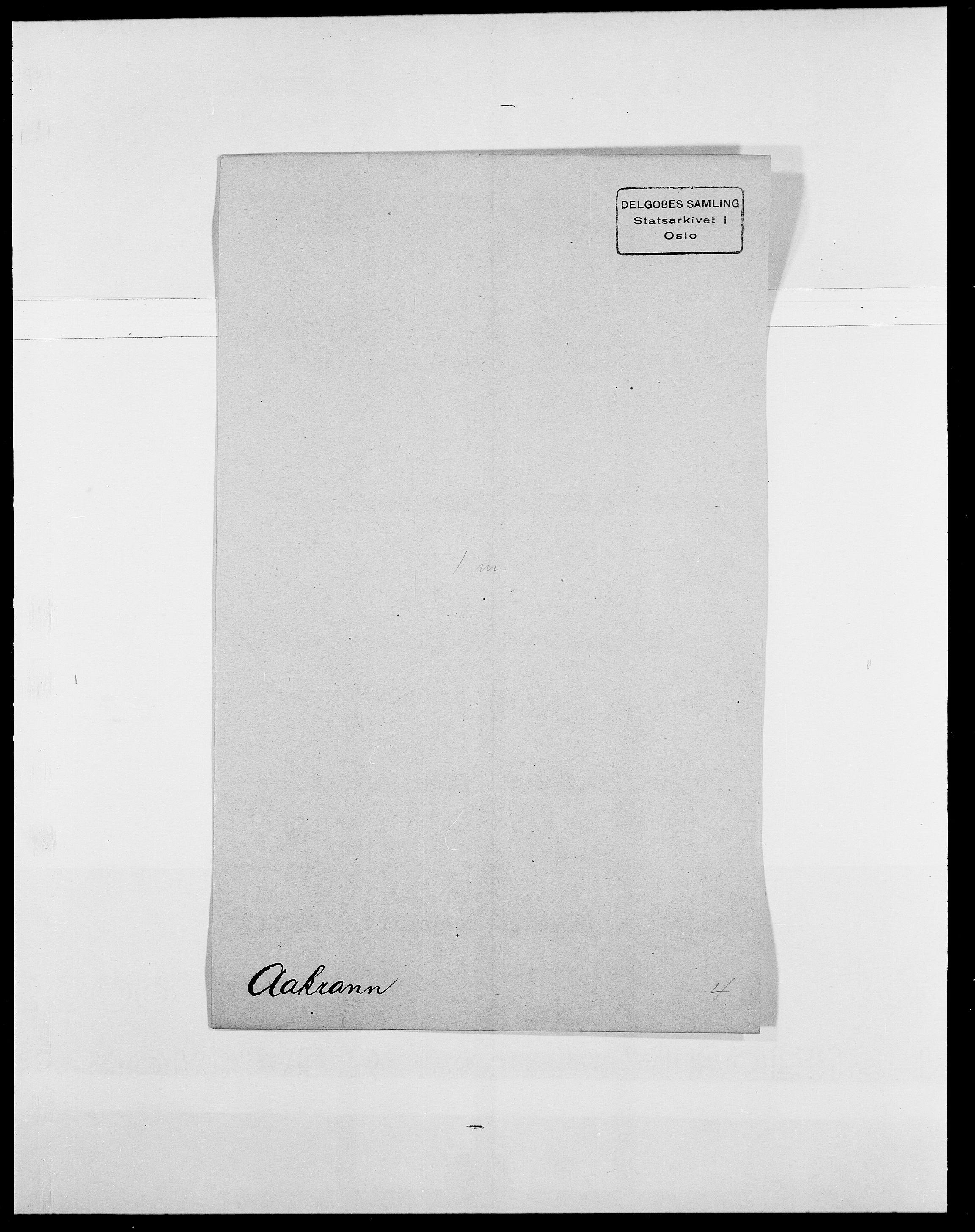 SAO, Delgobe, Charles Antoine - samling, D/Da/L0001: Aabye - Angerman, s. 32