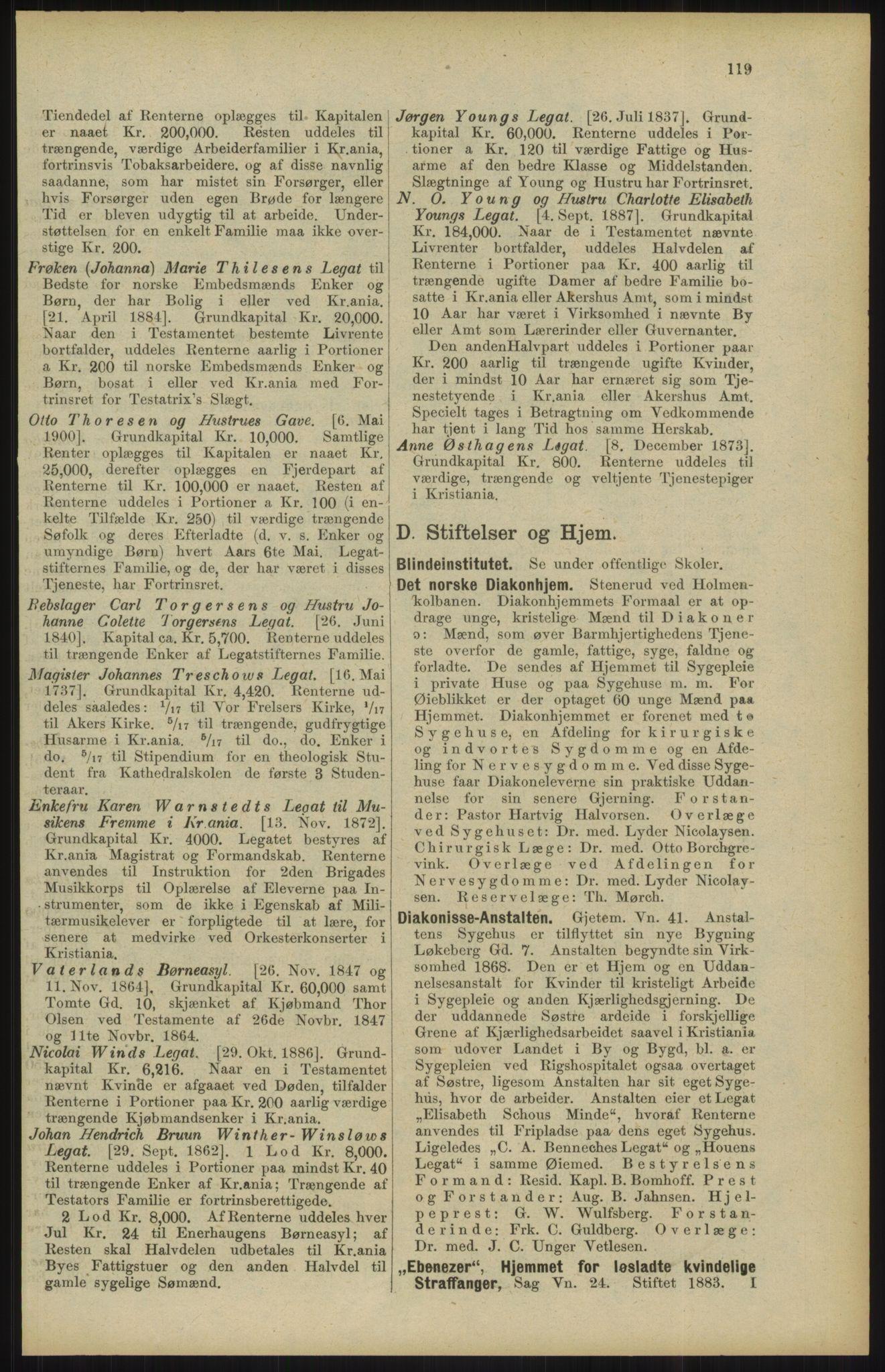 RA, Kristiania adressebok (publikasjon)*, 1904, s. 119