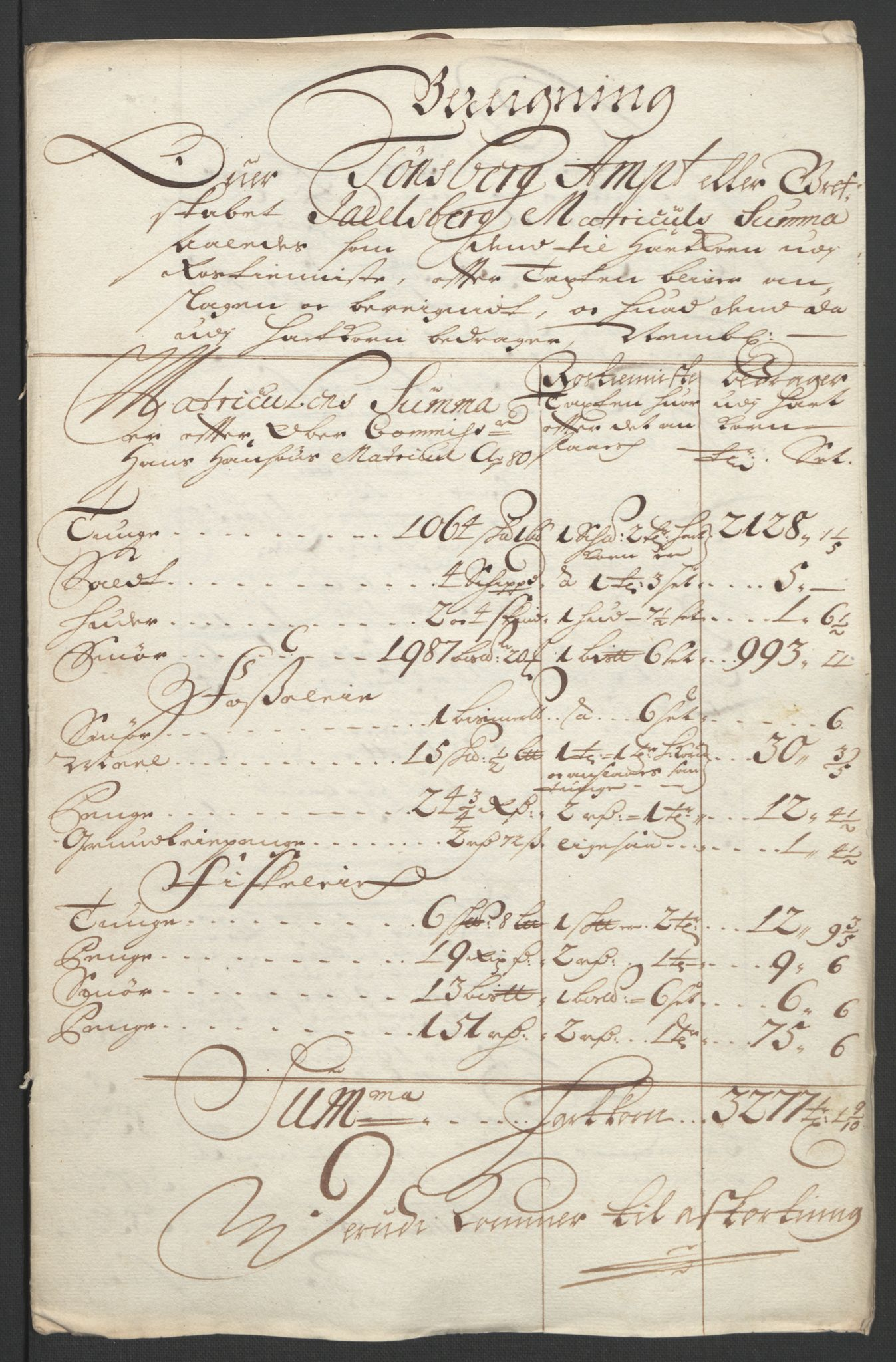 RA, Rentekammeret inntil 1814, Reviderte regnskaper, Fogderegnskap, R32/L1864: Fogderegnskap Jarlsberg grevskap, 1691, s. 237
