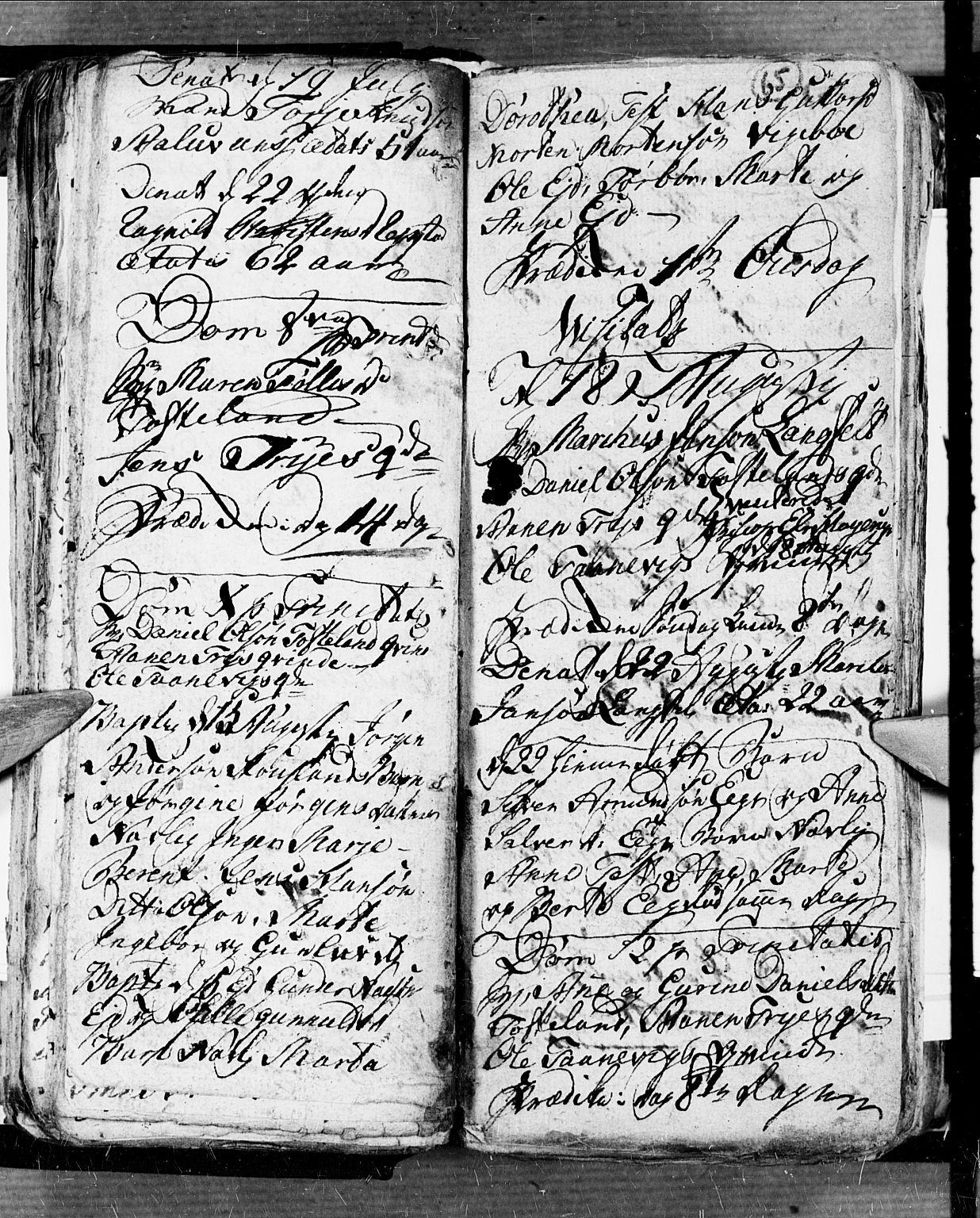 SAK, Søgne sokneprestkontor, F/Fb/Fbb/L0001: Klokkerbok nr. B 1, 1779-1802, s. 65