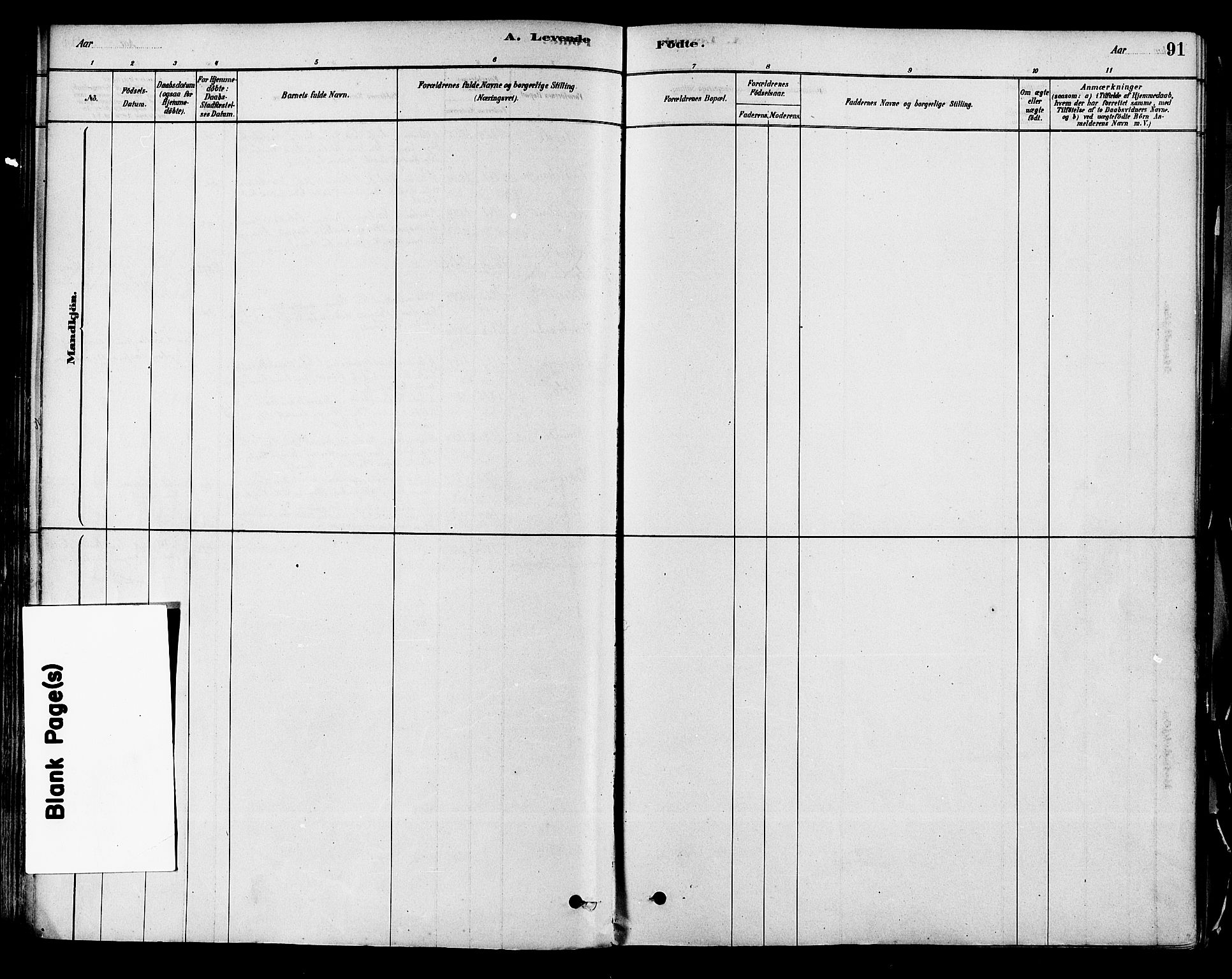 SAKO, Modum kirkebøker, F/Fa/L0011: Ministerialbok nr. 11, 1877-1889, s. 91