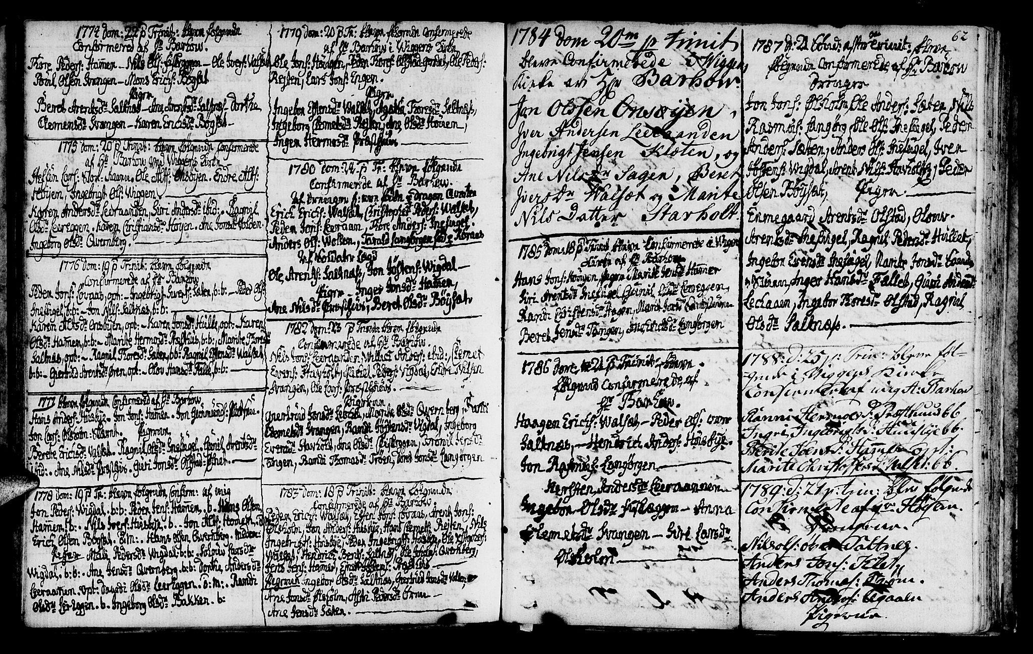 SAT, Ministerialprotokoller, klokkerbøker og fødselsregistre - Sør-Trøndelag, 666/L0784: Ministerialbok nr. 666A02, 1754-1802, s. 62