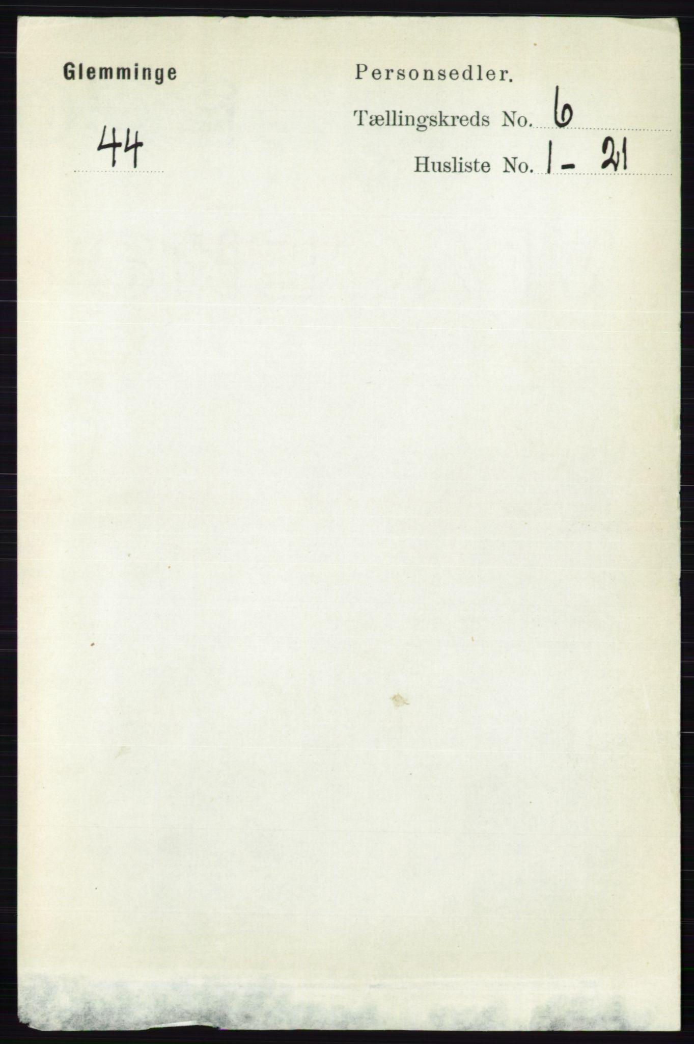 RA, Folketelling 1891 for 0132 Glemmen herred, 1891, s. 7506