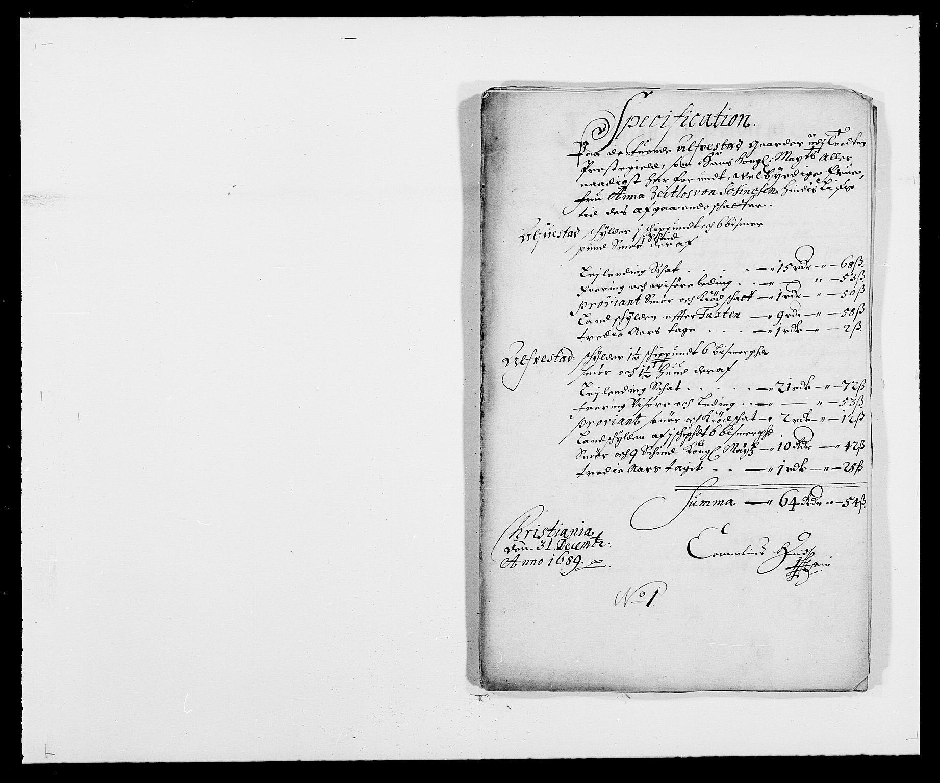 RA, Rentekammeret inntil 1814, Reviderte regnskaper, Fogderegnskap, R18/L1288: Fogderegnskap Hadeland, Toten og Valdres, 1689, s. 276