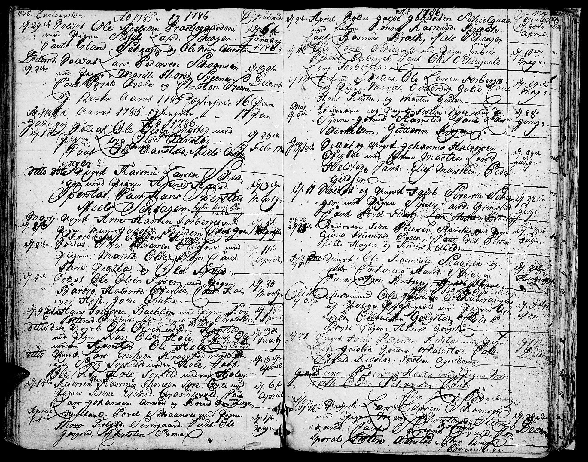 SAH, Lom prestekontor, K/L0002: Ministerialbok nr. 2, 1749-1801, s. 478-479