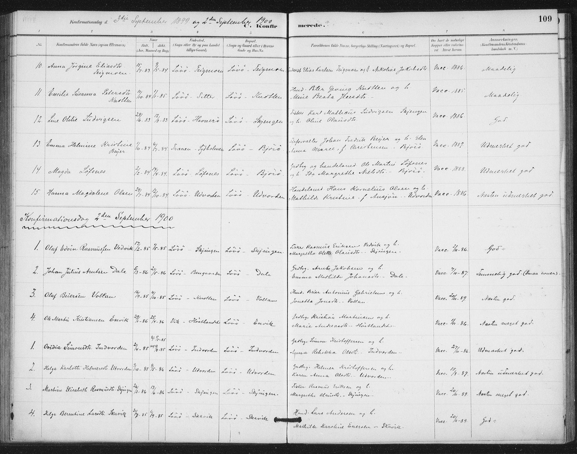 SAT, Ministerialprotokoller, klokkerbøker og fødselsregistre - Nord-Trøndelag, 772/L0603: Ministerialbok nr. 772A01, 1885-1912, s. 109