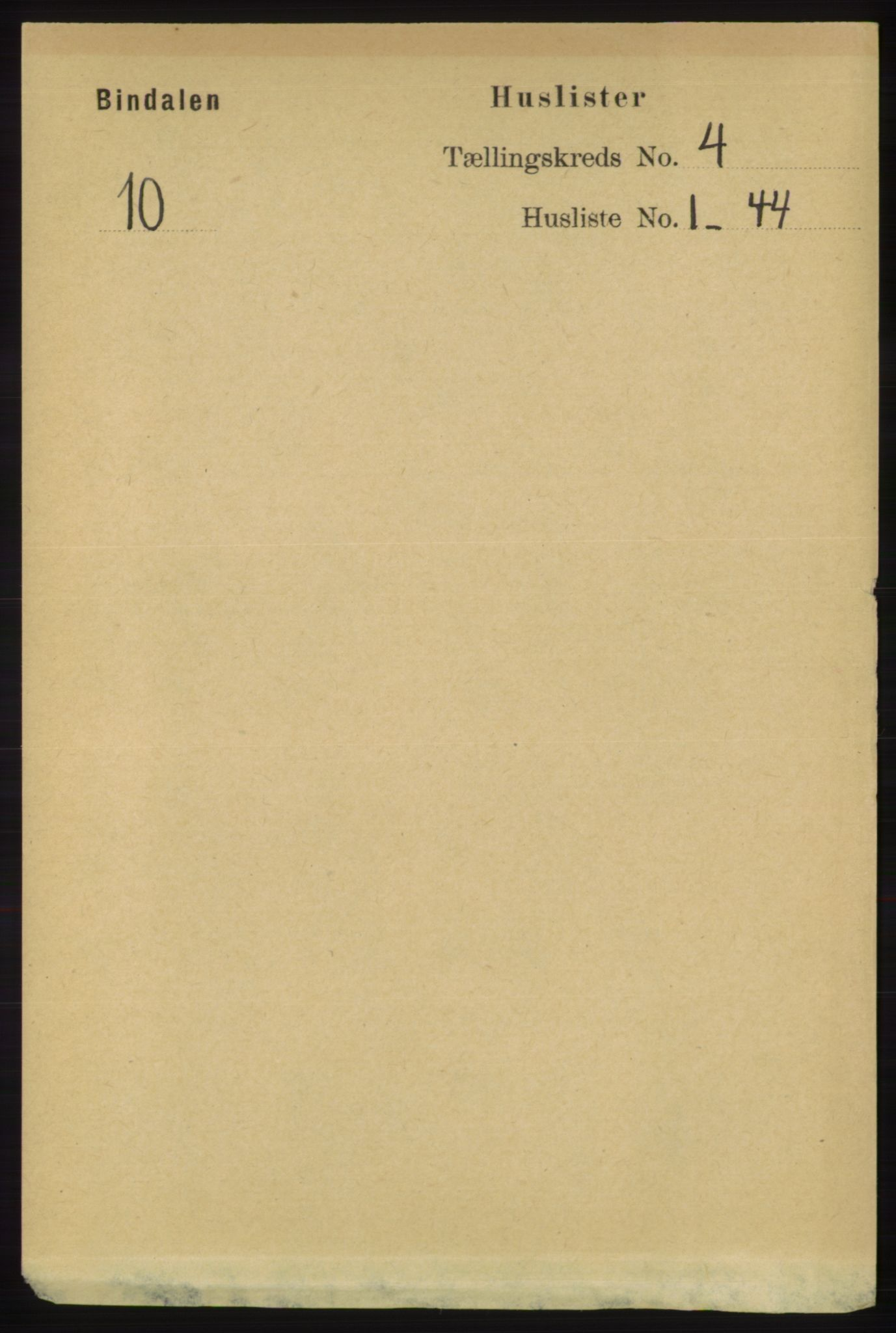 RA, Folketelling 1891 for 1811 Bindal herred, 1891, s. 989