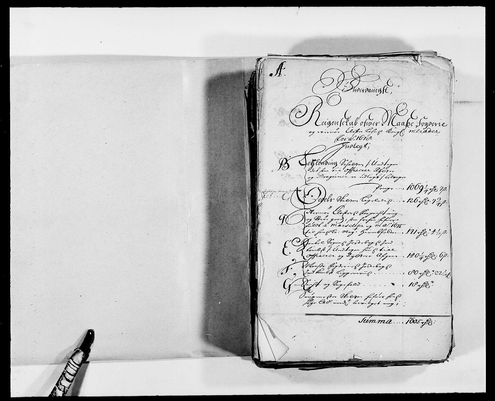 RA, Rentekammeret inntil 1814, Reviderte regnskaper, Fogderegnskap, R02/L0099: Fogderegnskap Moss og Verne kloster, 1678, s. 2