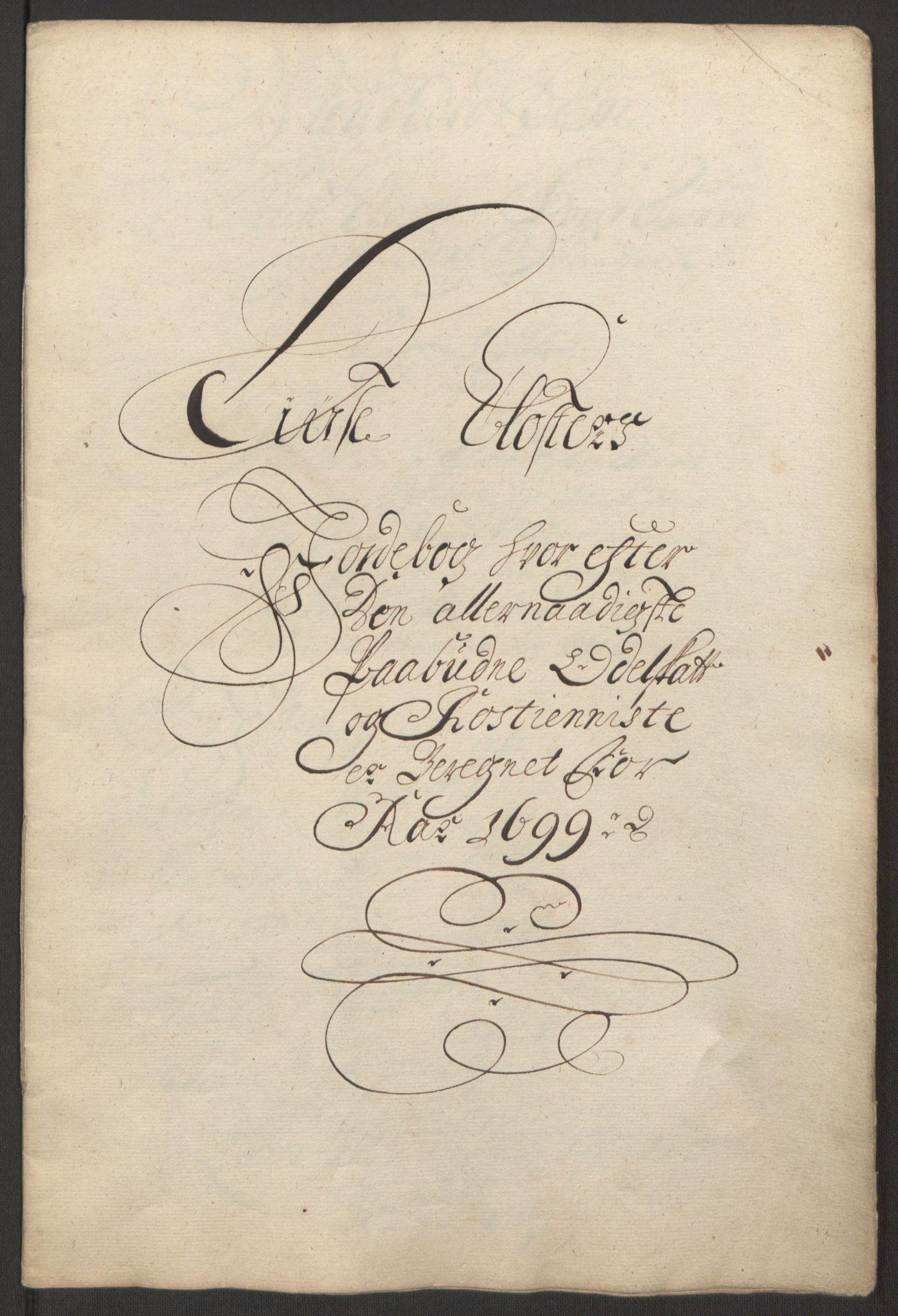 RA, Rentekammeret inntil 1814, Reviderte regnskaper, Fogderegnskap, R50/L3159: Fogderegnskap Lyse kloster, 1691-1709, s. 95
