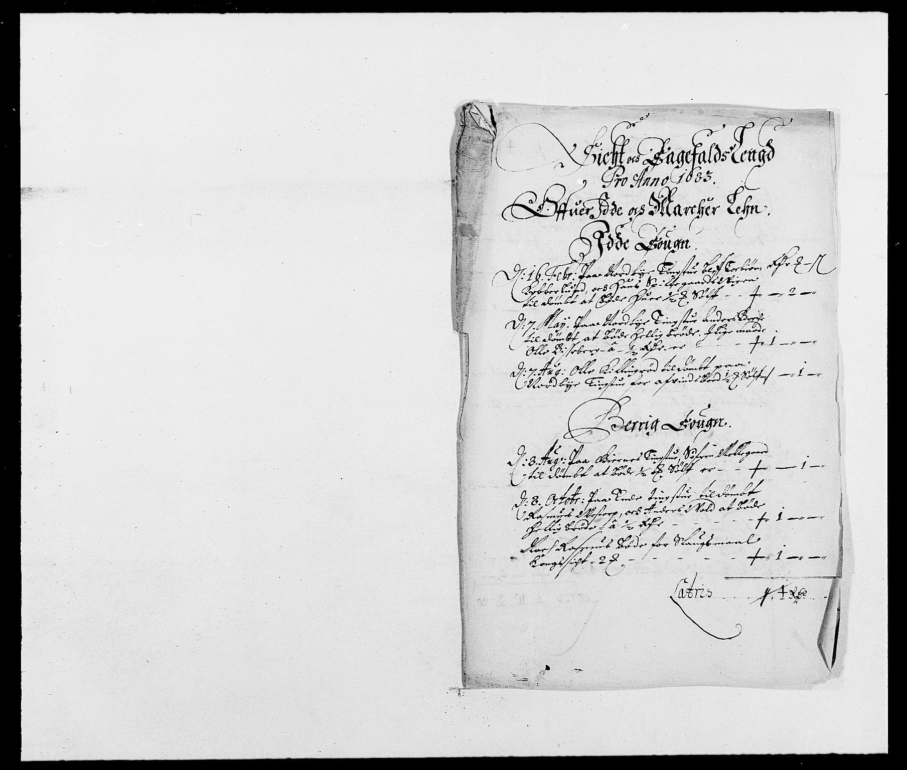 RA, Rentekammeret inntil 1814, Reviderte regnskaper, Fogderegnskap, R01/L0004: Fogderegnskap Idd og Marker , 1682-1683, s. 232