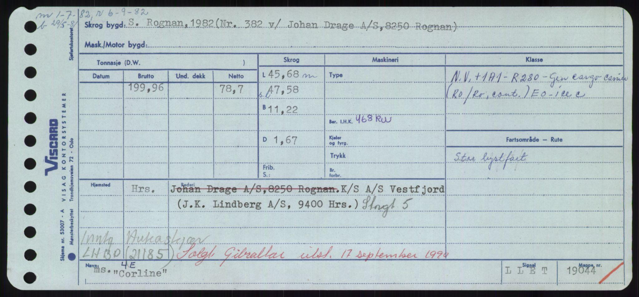RA, Sjøfartsdirektoratet med forløpere, Skipsmålingen, H/Hd/L0008: Fartøy, C-D, s. 221