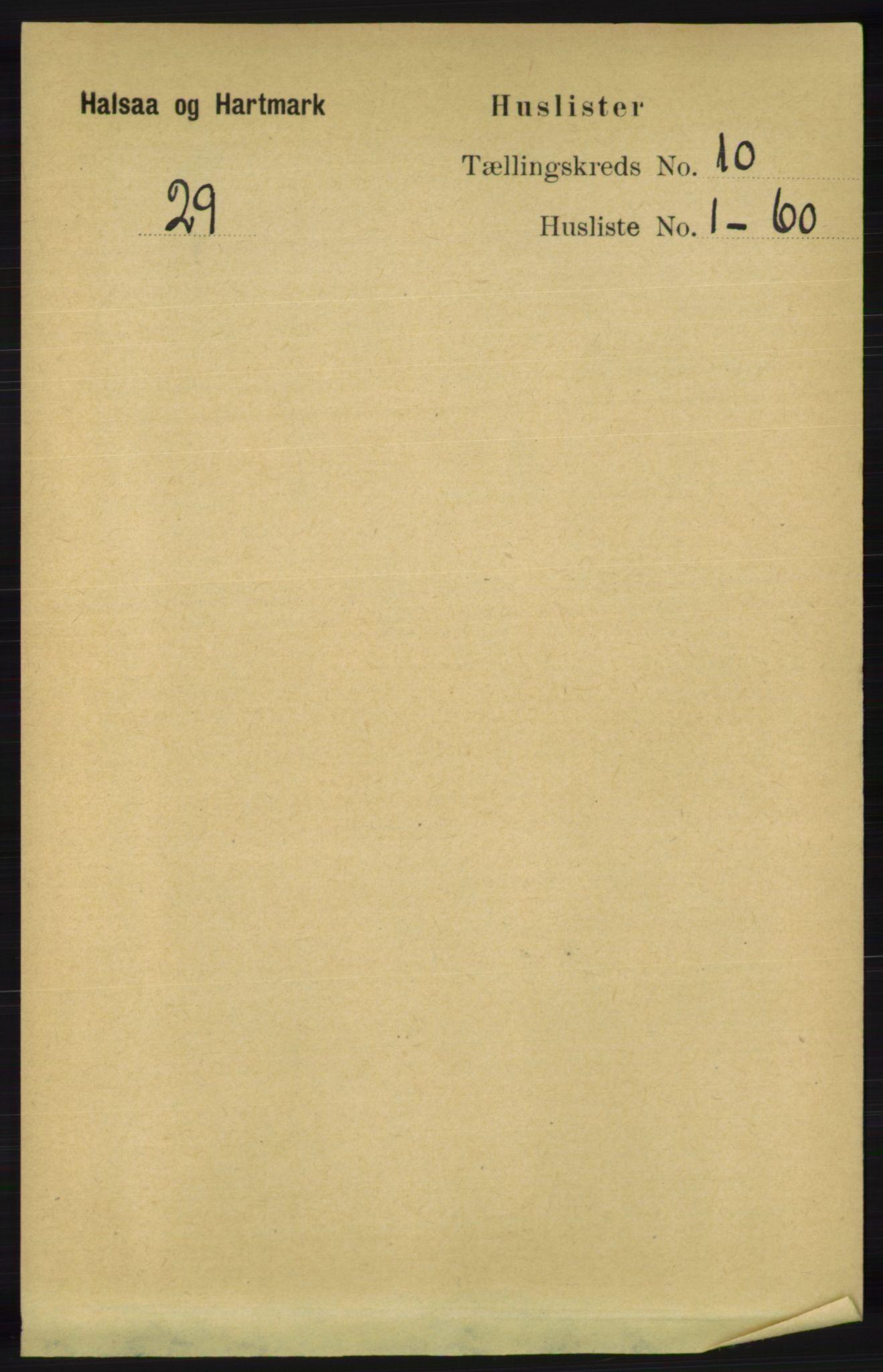 RA, Folketelling 1891 for 1019 Halse og Harkmark herred, 1891, s. 3703