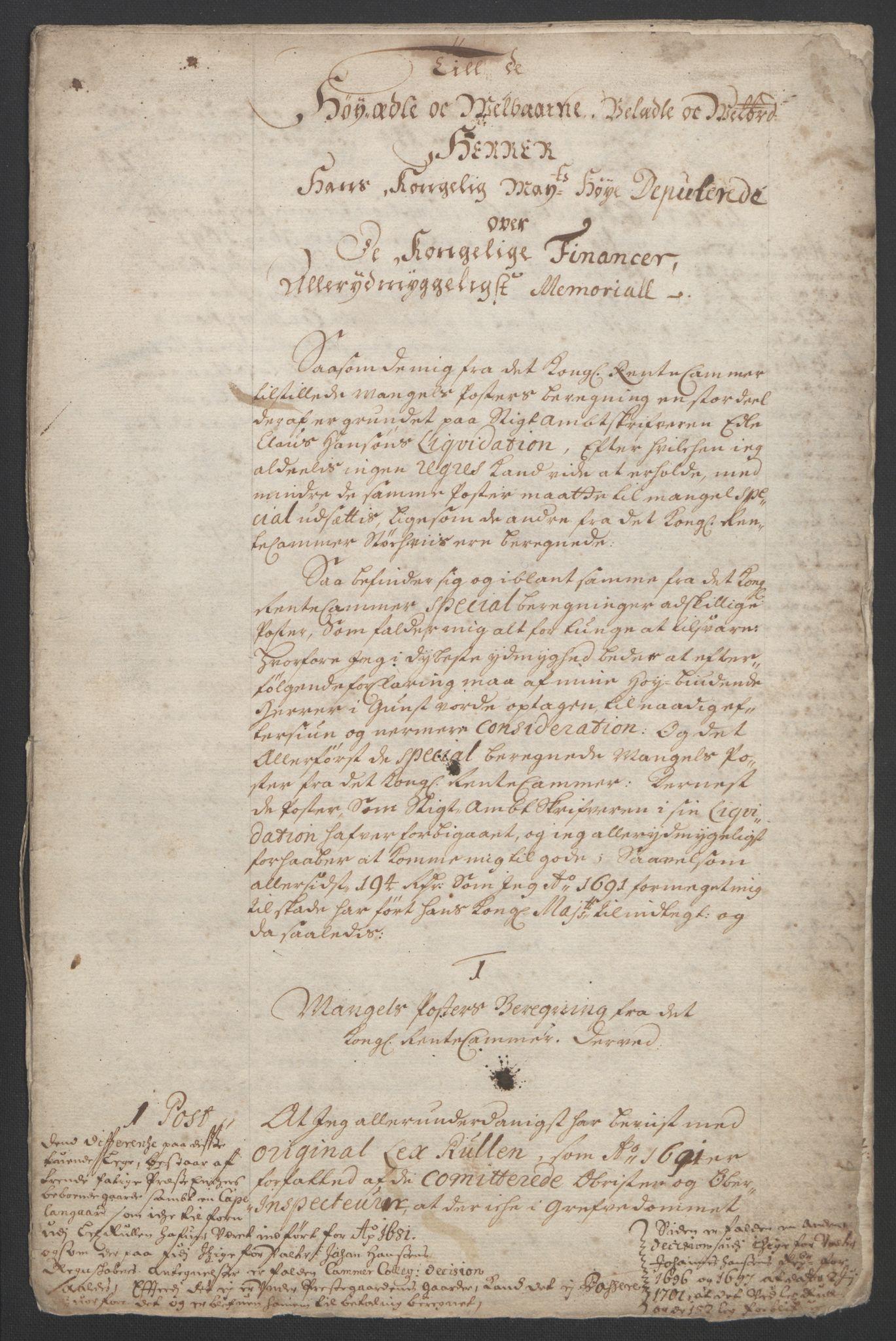RA, Rentekammeret inntil 1814, Reviderte regnskaper, Fogderegnskap, R33/L1973: Fogderegnskap Larvik grevskap, 1692, s. 191