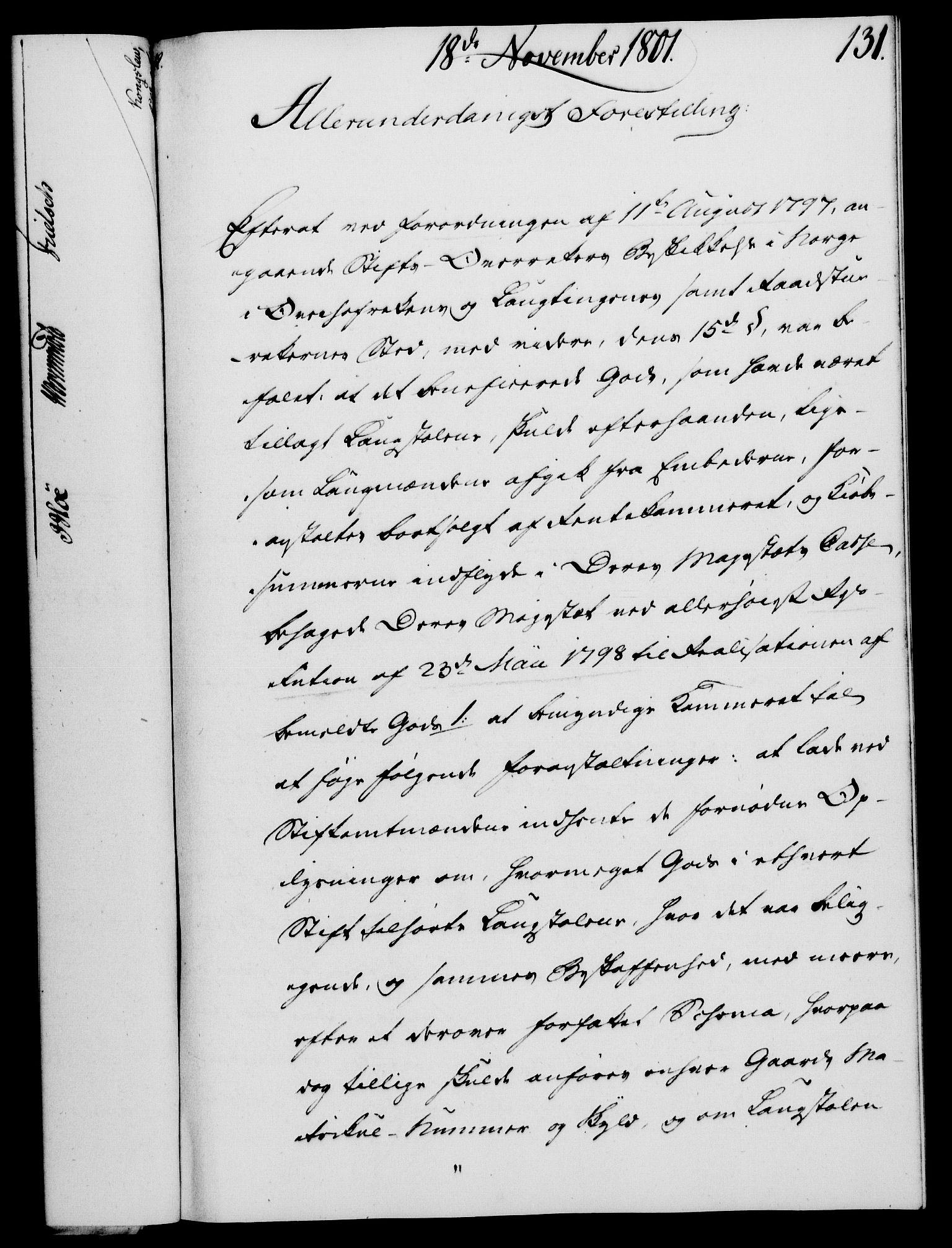 RA, Rentekammeret, Kammerkanselliet, G/Gf/Gfa/L0083: Norsk relasjons- og resolusjonsprotokoll (merket RK 52.83), 1801, s. 733