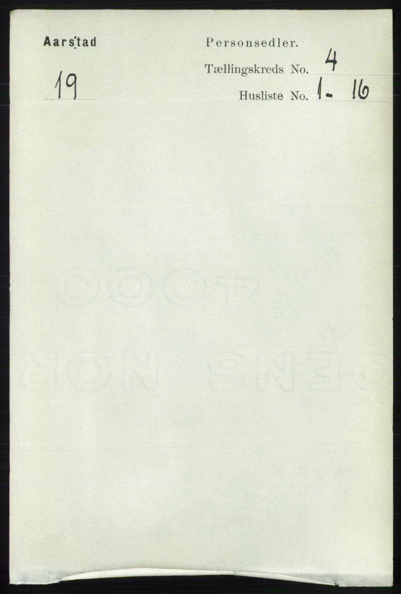 SAB, Folketelling 1891 for 1280 Årstad herred, 1891, s. 2957