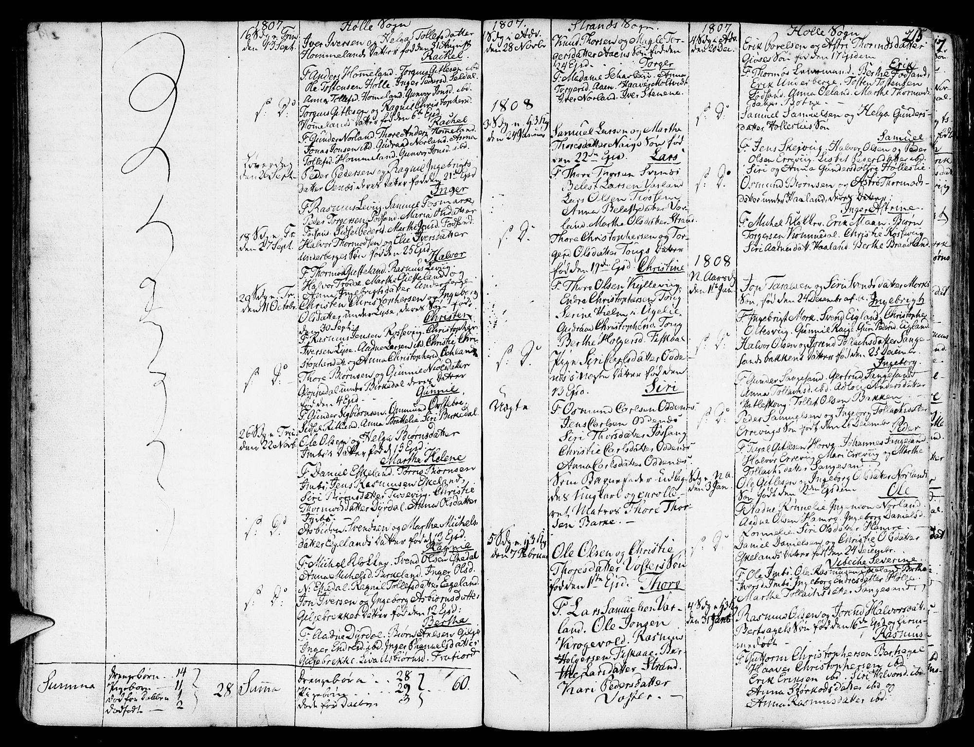 SAST, Strand sokneprestkontor, H/Ha/Haa/L0003: Ministerialbok nr. A 3, 1769-1816, s. 215