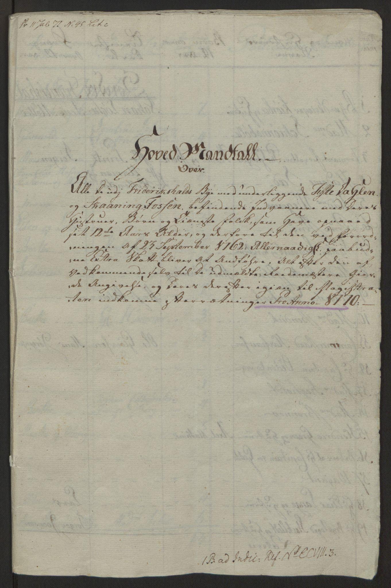 RA, Rentekammeret inntil 1814, Reviderte regnskaper, Byregnskaper, R/Ra/L0006: [A4] Kontribusjonsregnskap, 1762-1772, s. 168
