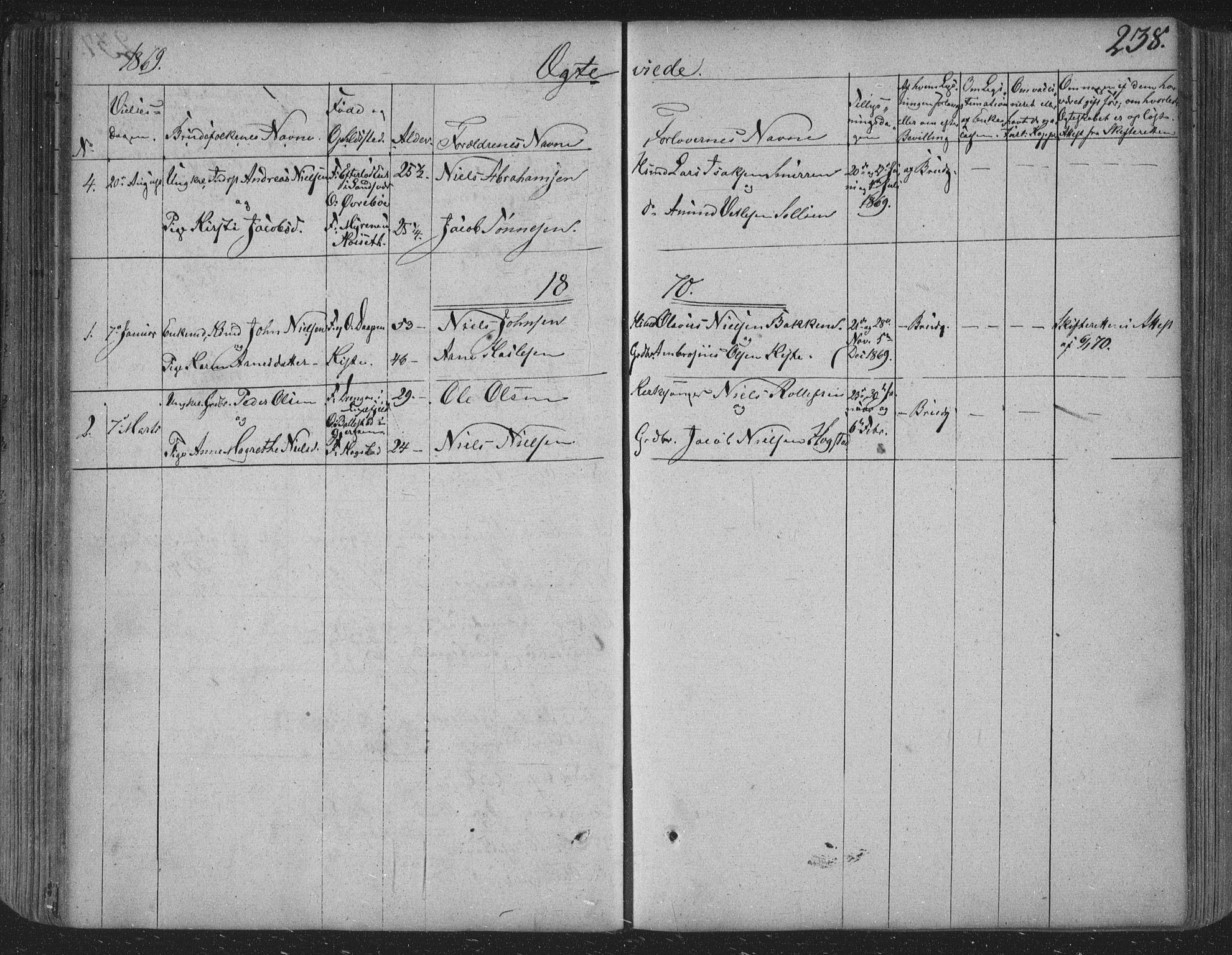 SAKO, Siljan kirkebøker, F/Fa/L0001: Ministerialbok nr. 1, 1831-1870, s. 238