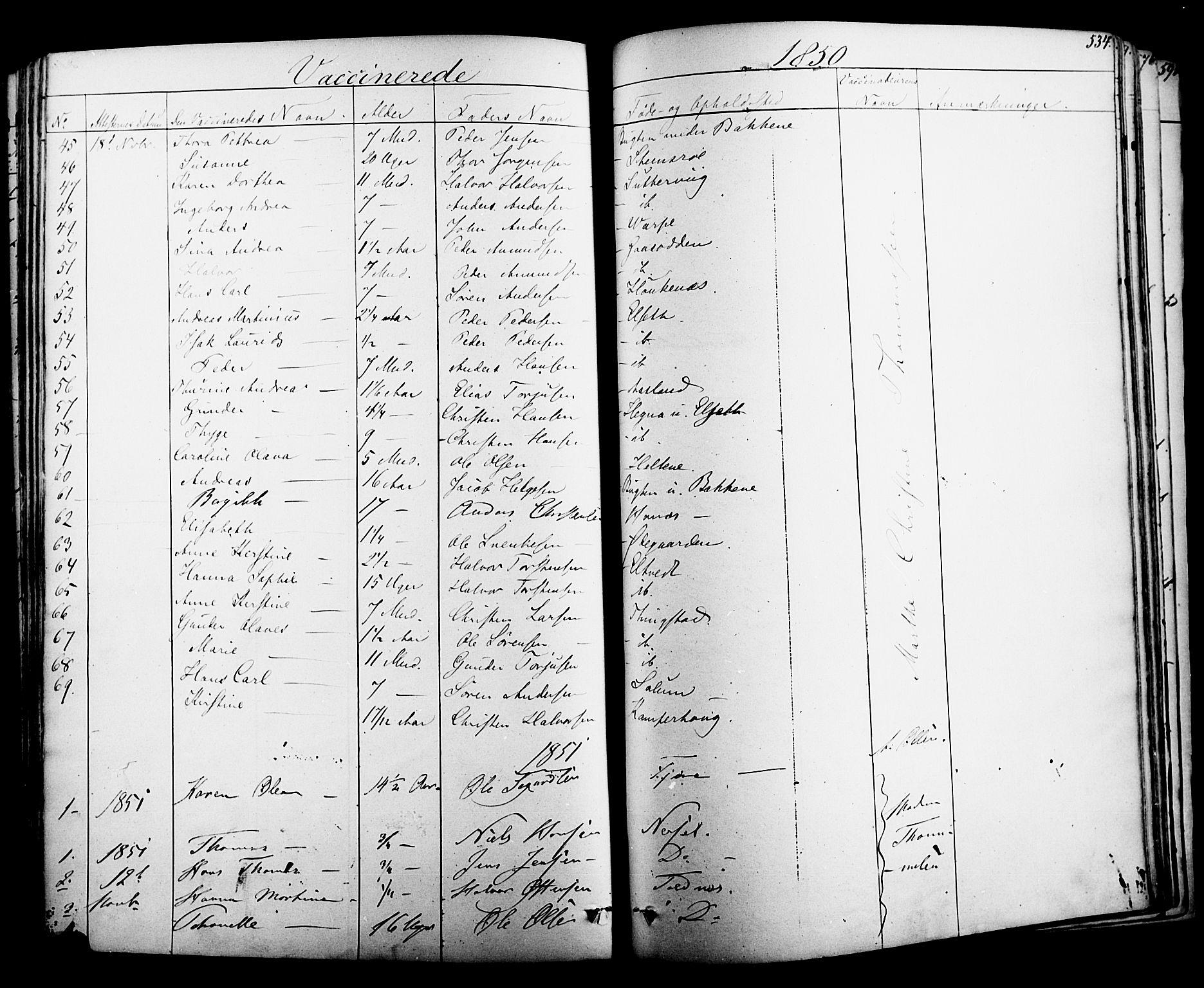 SAKO, Solum kirkebøker, F/Fa/L0006: Ministerialbok nr. I 6, 1844-1855, s. 534