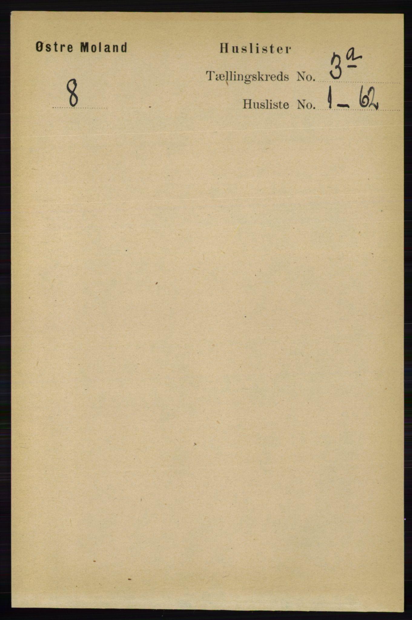 RA, Folketelling 1891 for 0918 Austre Moland herred, 1891, s. 1291